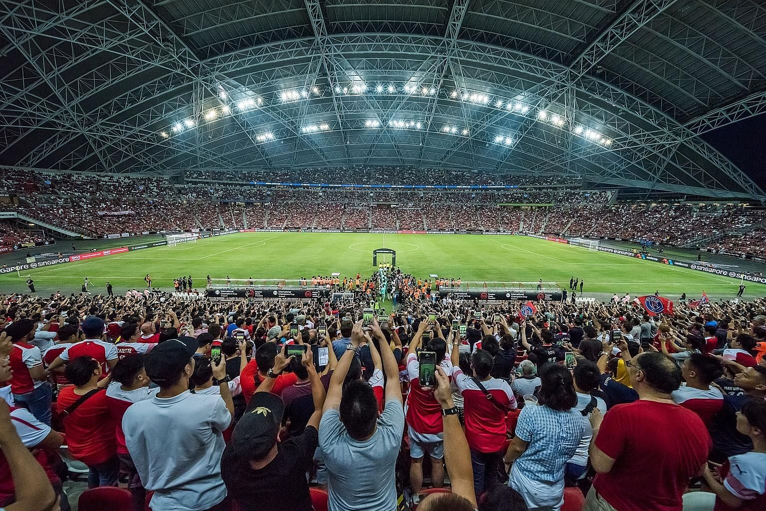 Fans going to the Sports Hub next weekend for the ICC football matches can also indulge in foosball challenges, penalty shoot-outs, virtual reality and e-sport gaming experiences at the OCBC Square.