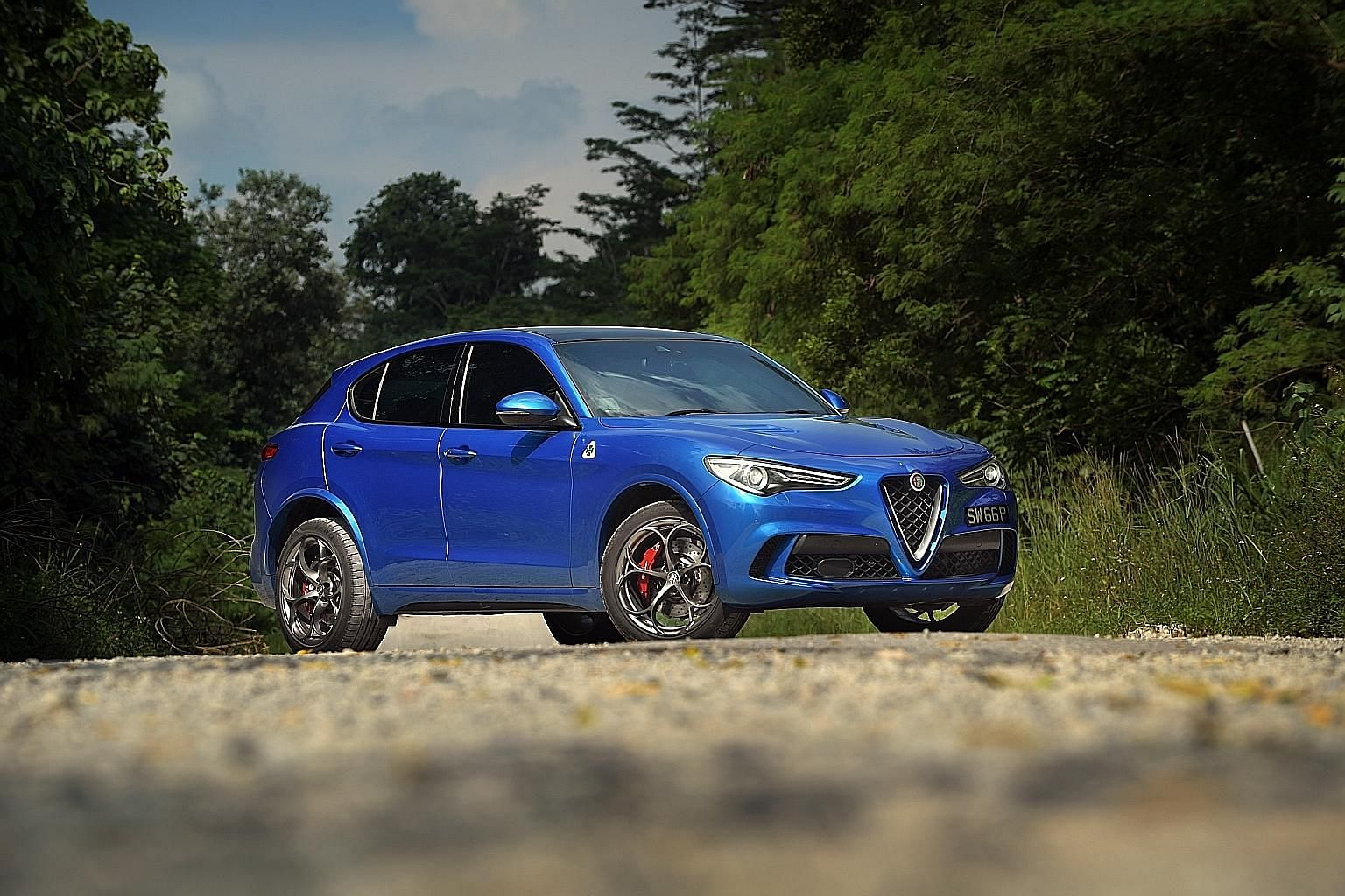 The Stelvio Quadrifoglio is Alfa Romeo's first sport utility vehicle.