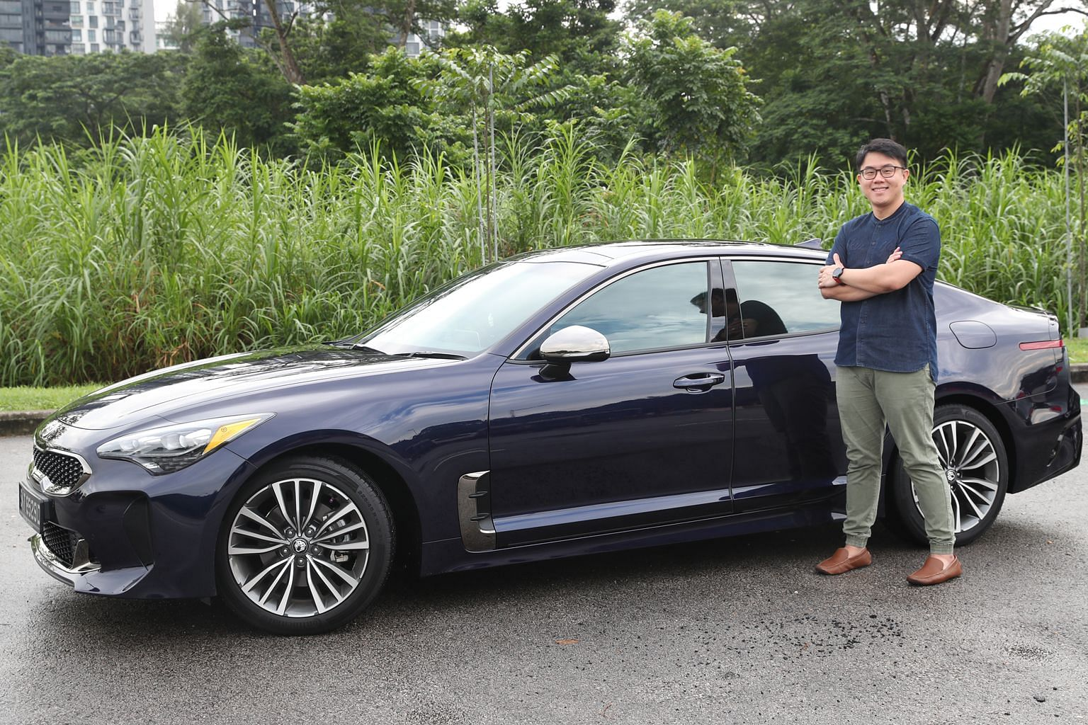 Pet food brand manager Chua Yew Teck became interested in the Kia Stinger after it won The Straits Times Car of the Year award last year.