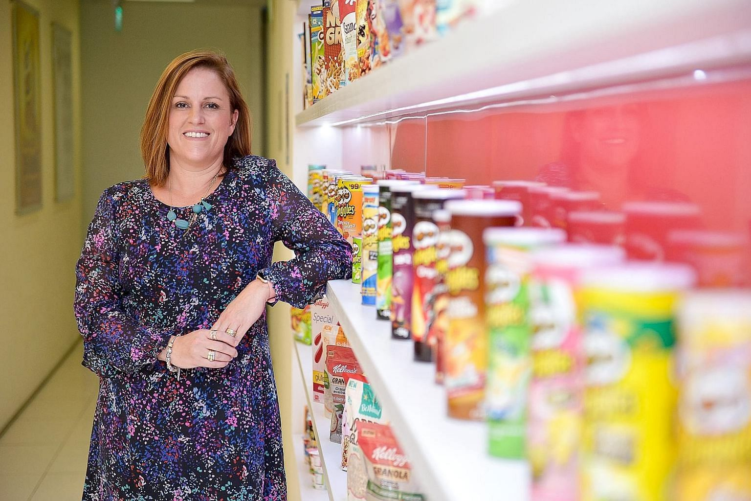 Ms Belinda Tumbers, managing director of Kellogg's Asia, Middle East and Africa snacks business, says the way people are becoming more health-conscious in Singapore is seen across the region too. Kellogg's acquired potato chips brand Pringles in 2012