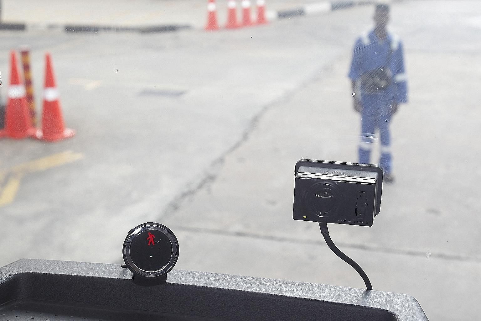 SBS Transit's 3,000 buses are fitted with the Mobileye driver assistance system, which warns of impending collisions. The accident rate for SBS Transit buses has since dropped by 20 per cent.
