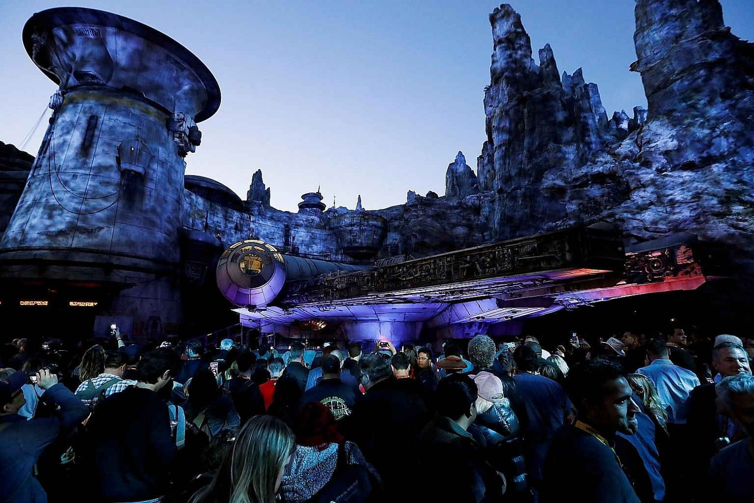 Guests throng Star Wars: Galaxy's Edge in Anaheim, California. Unfettered access to customer data has helped Disney streamline its park logistics.