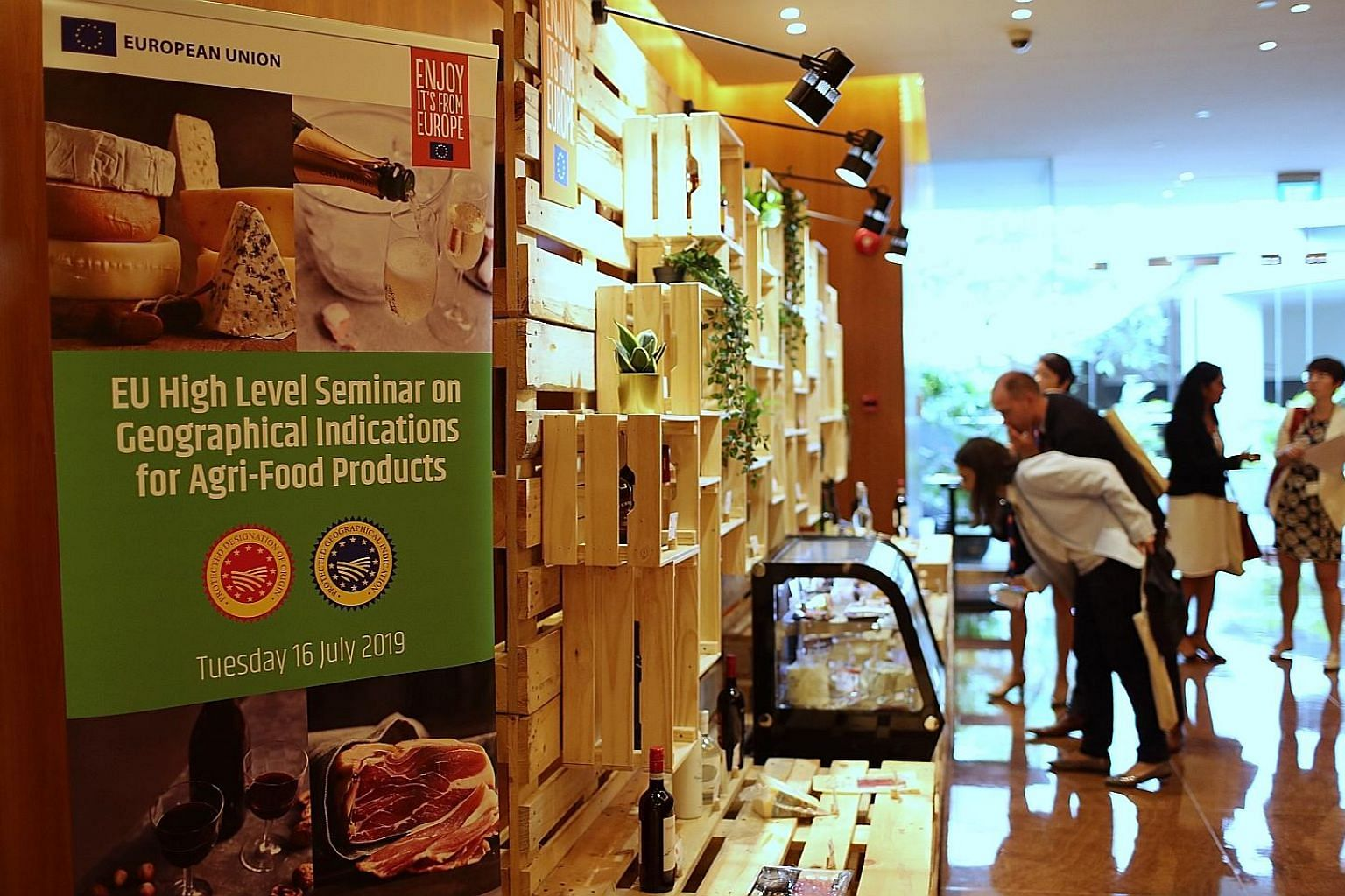 A seminar on Geographical Indications (GIs) for agri-food products was held yesterday at Grand Hyatt Hotel. A GI is a sign used on products that identifies them as originating from a specific geographical place and possessing qualities or a reputatio
