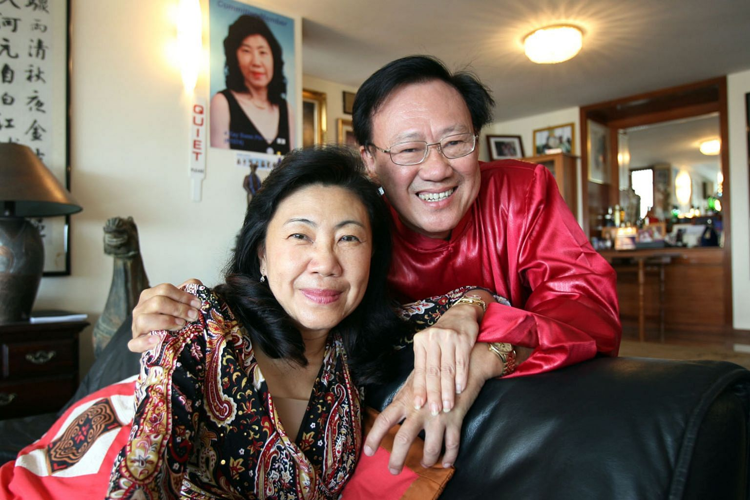 SA Tours managing director Kay Swee Pin and her long-time lover, the travel agency's former boss Ng Kong Yeam in 2008. ST FILE PHOTO