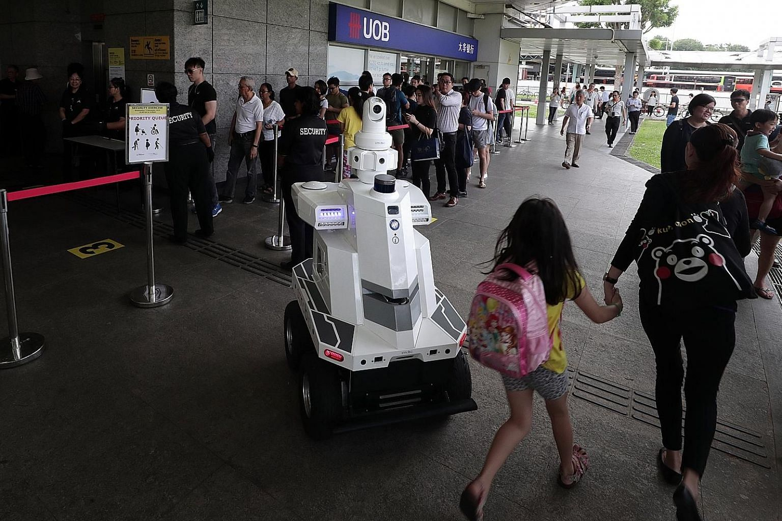 "An ST Engineering roving robot with surveillance capabilities deployed during ""Exercise Station Guard"" at the Hougang MRT Station last December. Innovation is a big part of the defence technology group's growth plan, says Mr Vincent Chong, its president a"