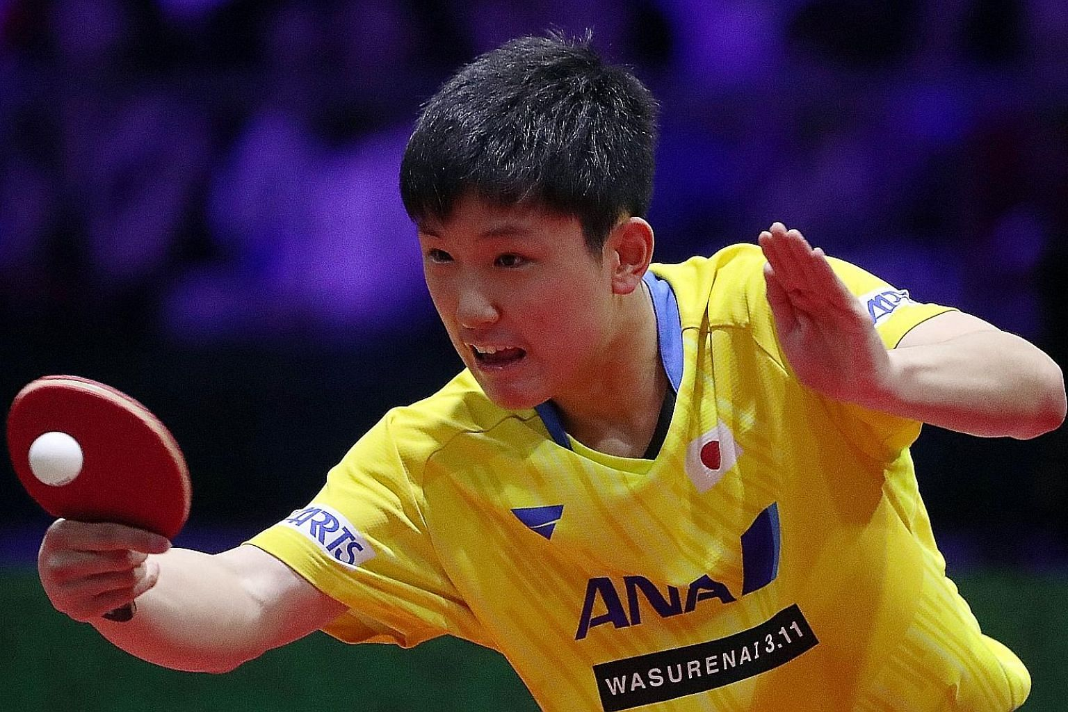 Japan's Tomokazu Harimoto, the world No. 4, is seen as one of the players capable of ending China's table tennis domination at the Tokyo Olympics. PHOTO: AGENCE FRANCE-PRESSE