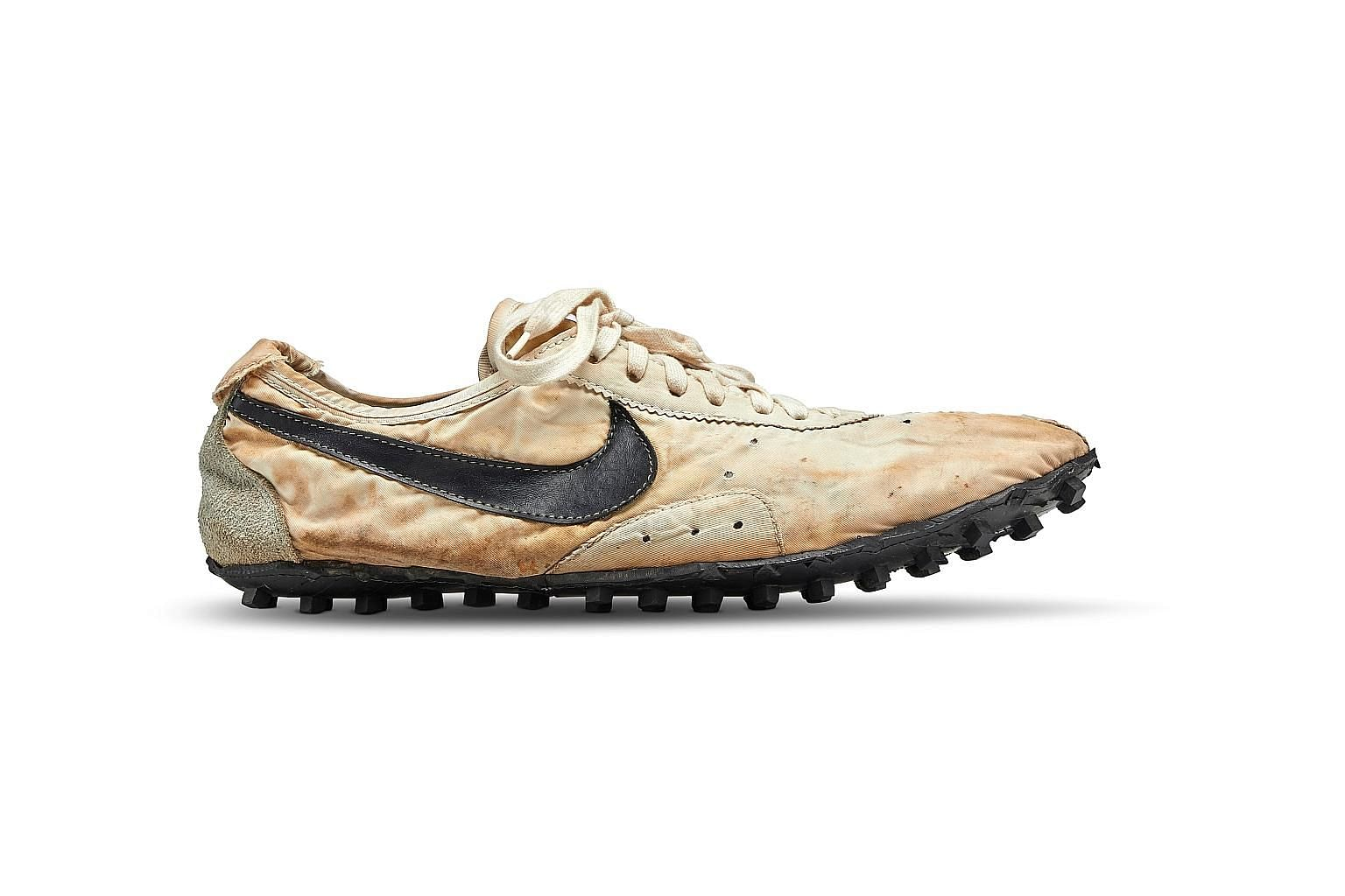 Canadian collector Miles Nadal landed the Nike Moon Shoe, one of only about 12 pairs manufactured in the world, at auction and plans to display it at his private museum. PHOTO: REUTERS