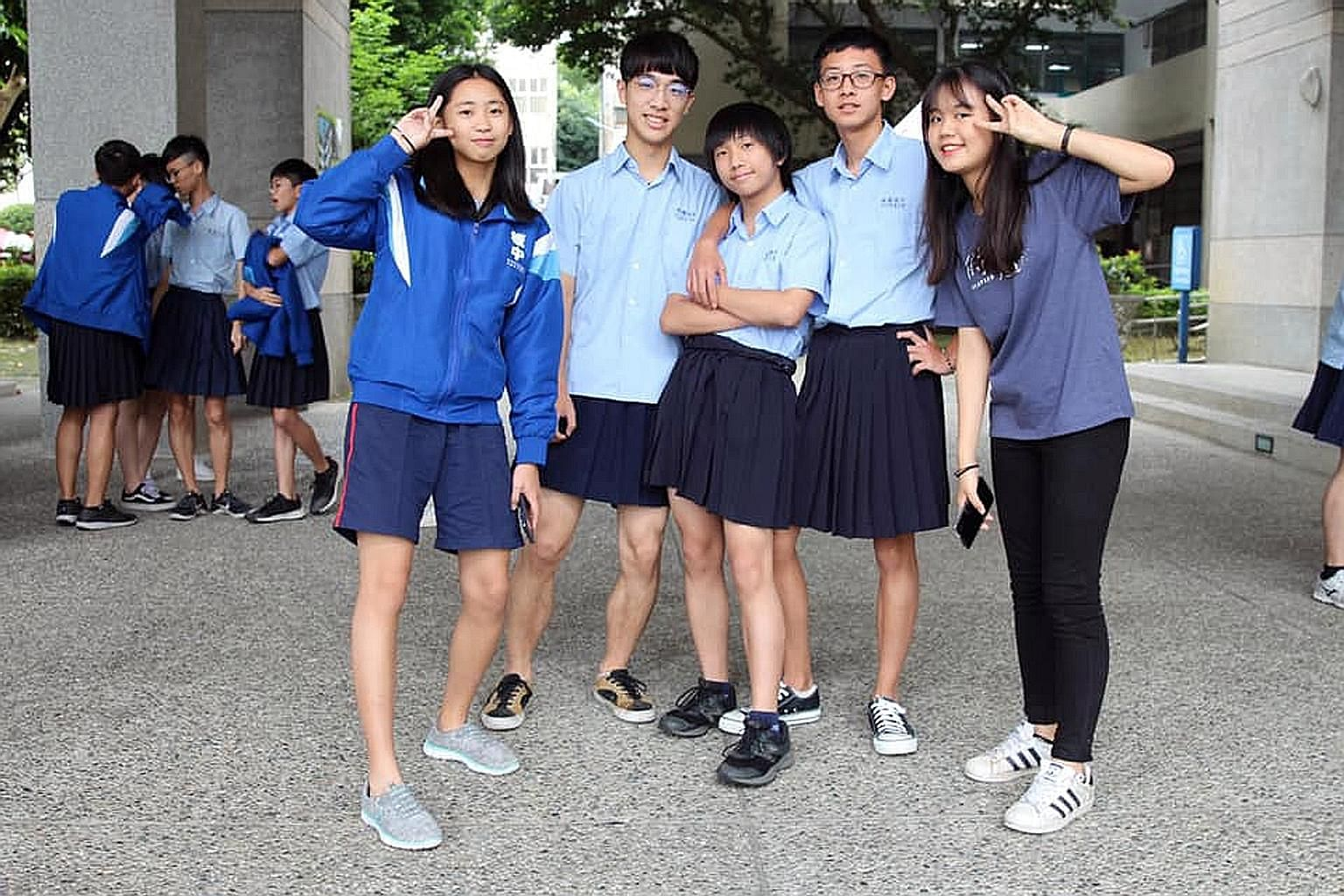 Students at Banqiao Senior High School near Taipei will be allowed to wear skirts or trousers, come end-August.