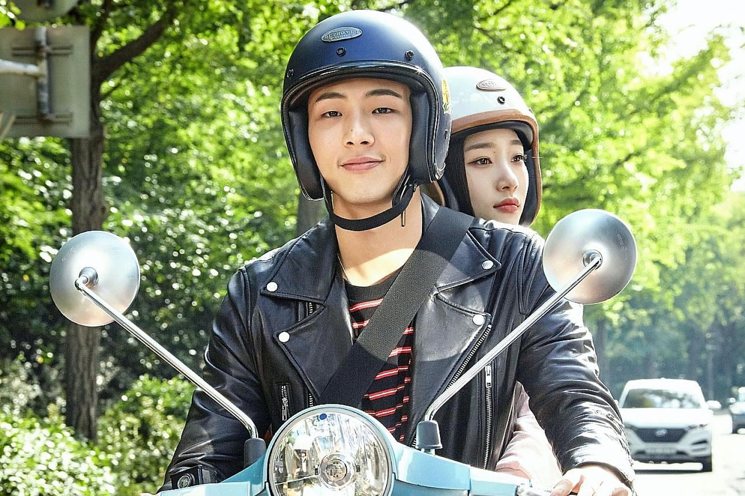 South Korean actor Jisoo with his co-star Jung Chae-yeon in the Netflix original My First First Love.