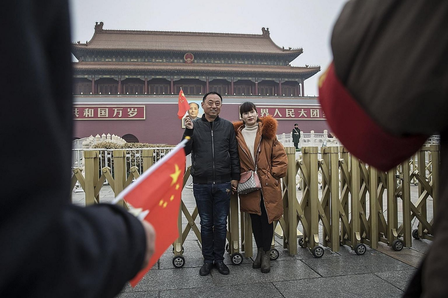 Tourists at Tiananmen Square in Beijing. America's military, economic and ideological competition with China will be a long one, and hopefully will be a contest in which both sides can achieve win-win outcomes while also managing zero-sum outcomes pe