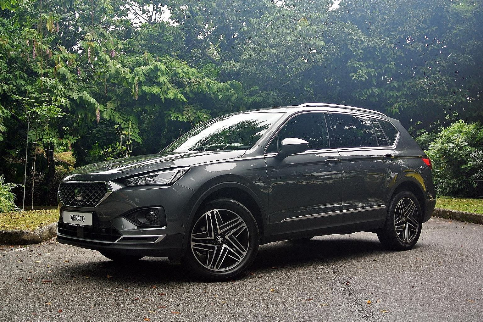 The Seat Tarraco comes with a full-digital instrument panel and a 360-degree parking camera as well as adaptive cruise control and lane assistance.