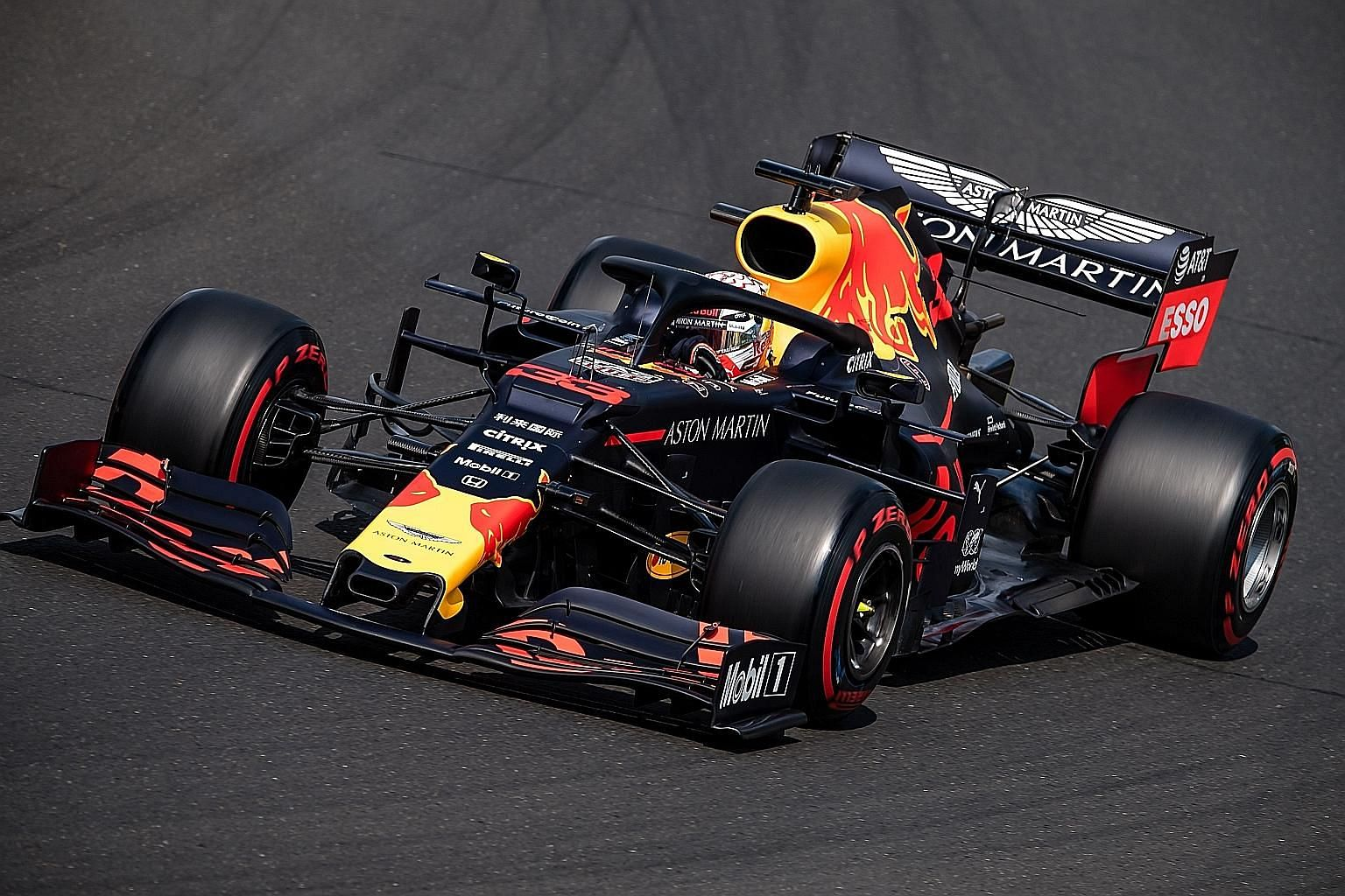 Red Bull's Dutch driver Max Verstappen steering his car during the qualifying session of the Hungarian Grand Prix at the Hungaroring circuit yesterday.