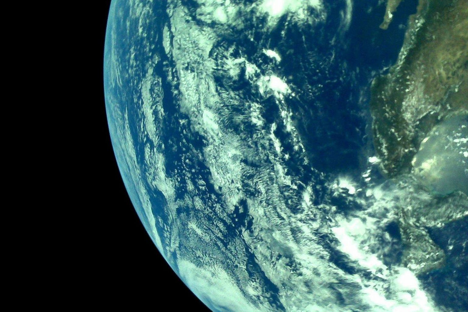 India's space agency yesterday tweeted the first pictures of the Earth from Chandrayaan-2, which was launched on July 22.