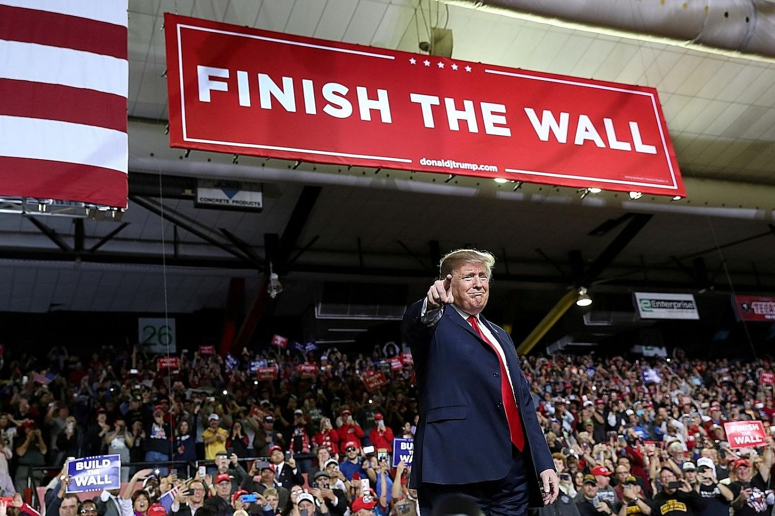 In this file photo from Feb 11 this year, US President Donald Trump speaking at a campaign rally at El Paso County Coliseum in El Paso, Texas. His inflammatory remarks include referring to Mexican immigrants as rapists and drug dealers, while he has