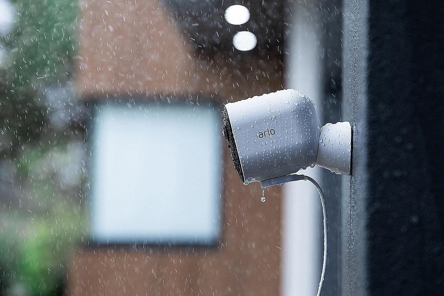 The Arlo Ultra home security camera is weatherproof.