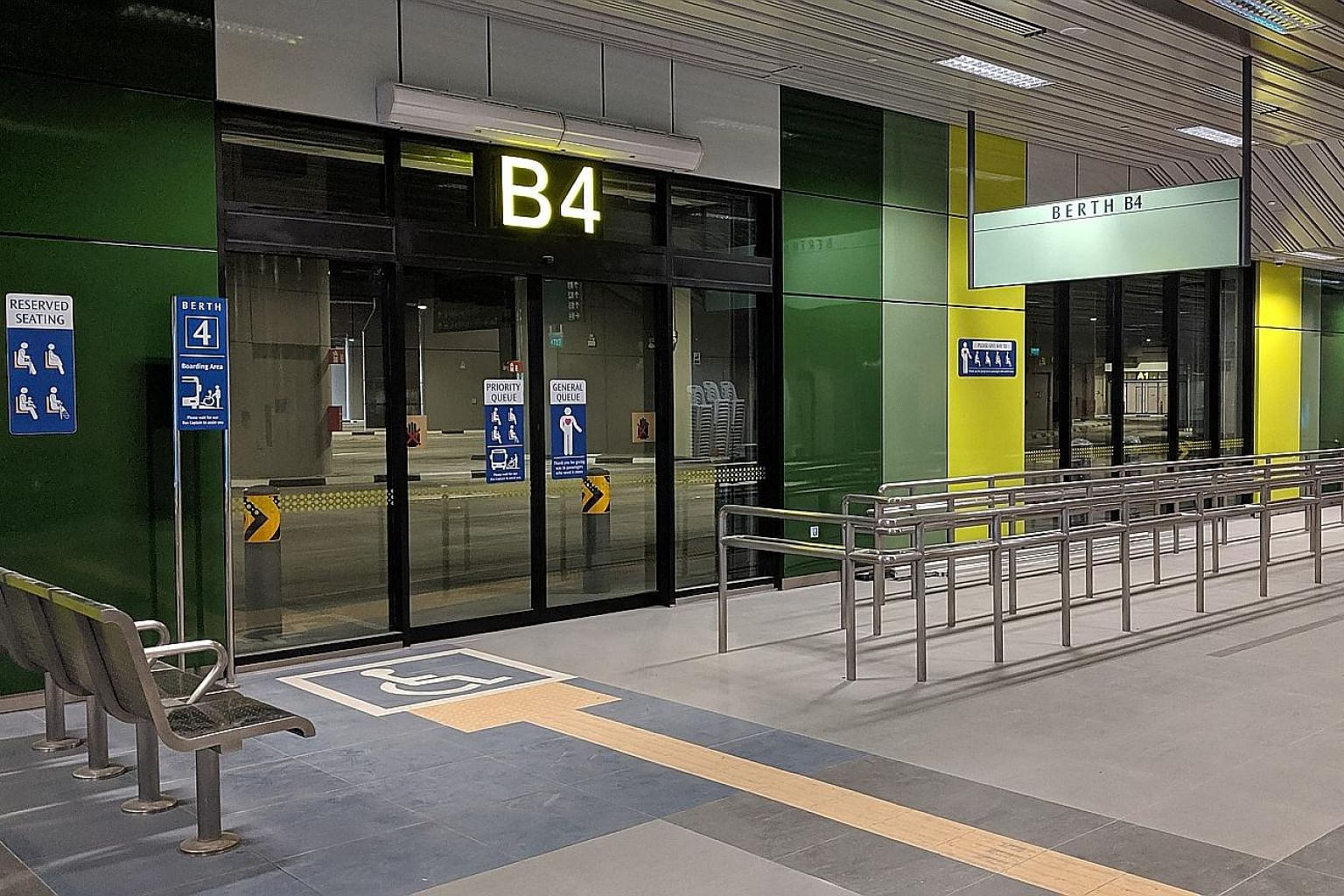 The new integrated transport hub has dedicated boarding points at each berth and graduated kerb edges to facilitate boarding by passengers in wheelchairs, said the Land Transport Authority.