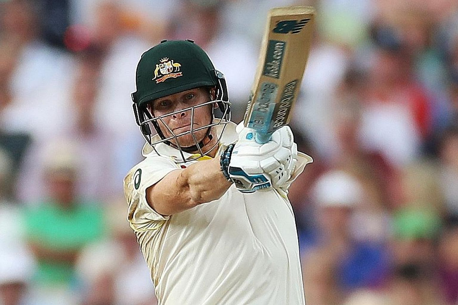 Australian batsman Steve Smith (in action against England in the first Ashes Test on Aug 1 at Edgbaston, Birmingham) is obsessive and quirky. Before every ball, he twitches, fidgets and tucks at his apparel like a bear scratching himself.