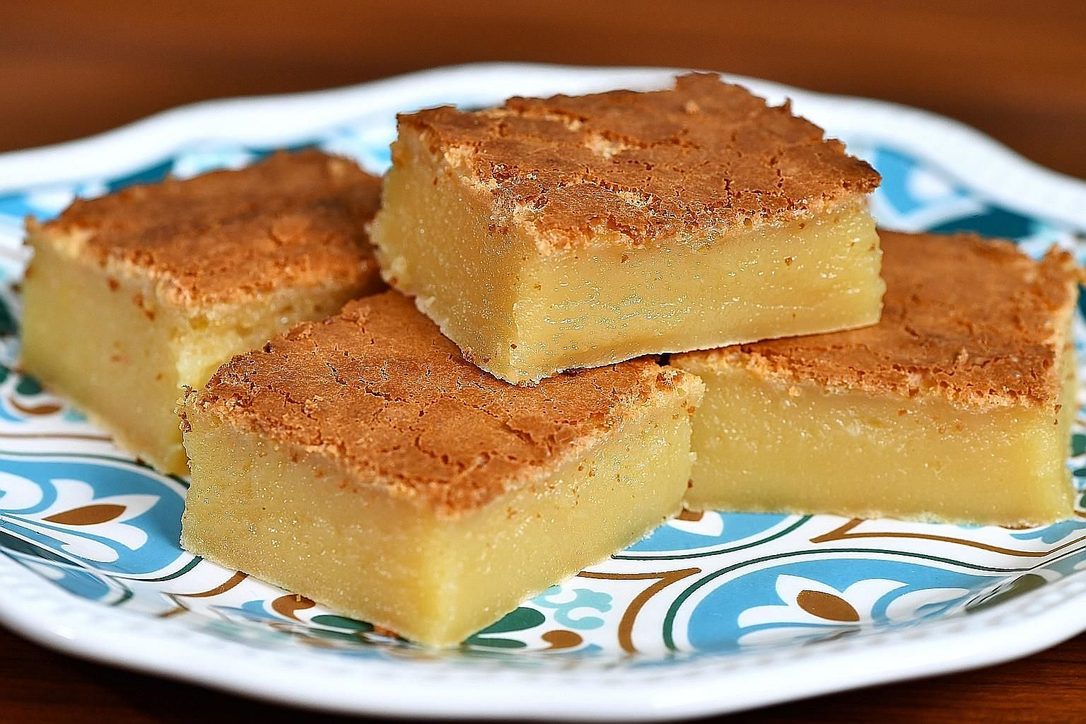 The Hawaiian Butter Mochi Cake is all texture and, as a bonus, has plenty of flavour too.