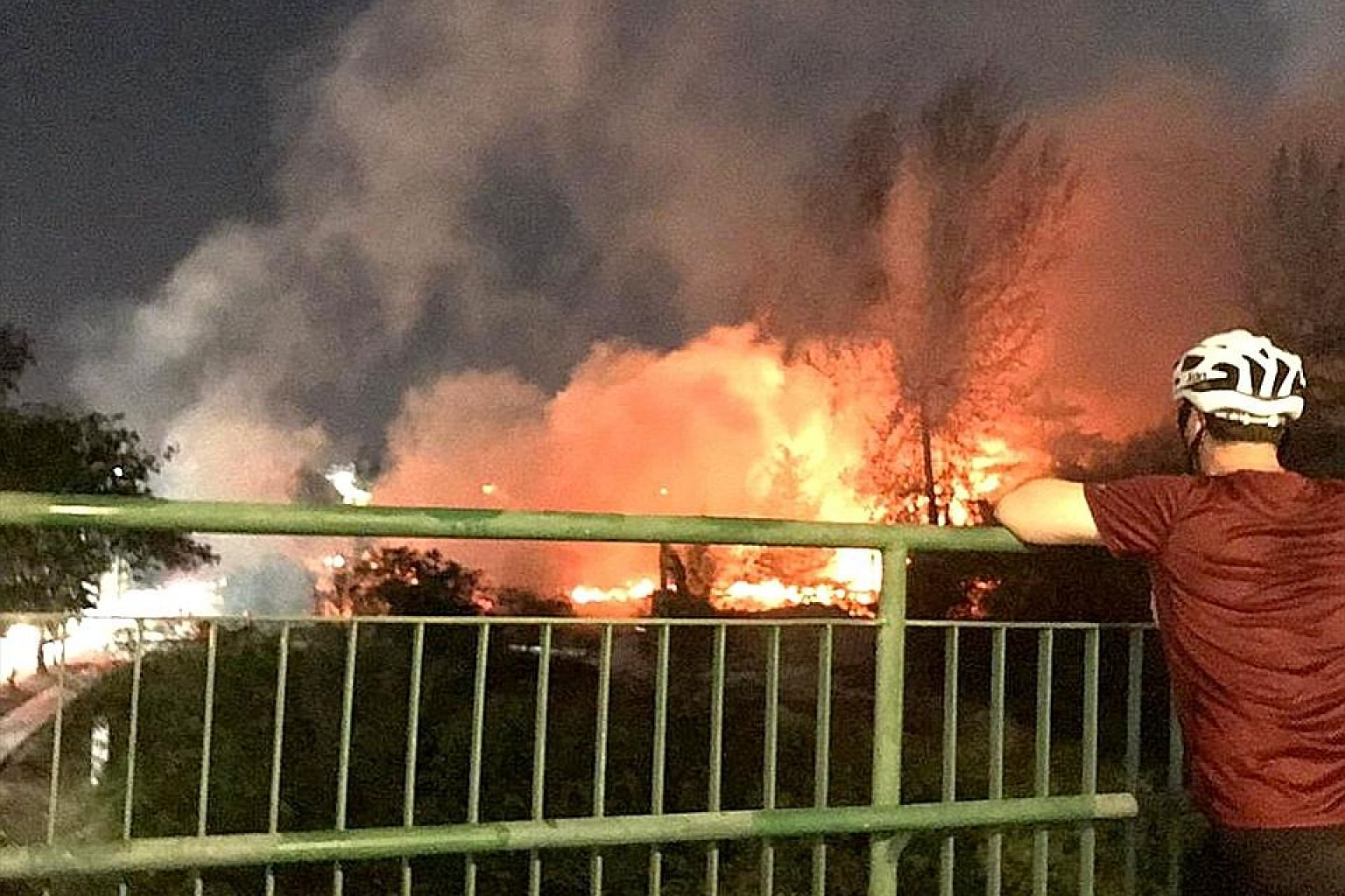About 50 firefighters and 12 emergency vehicles were deployed to fight the fire, which was brought under control at 10.30pm.