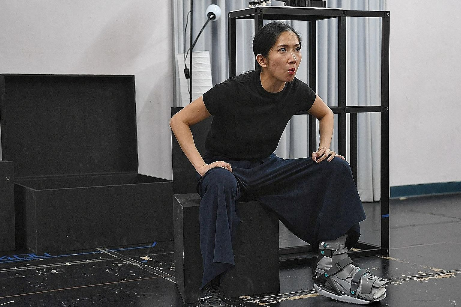 Jo Tan rehearsing Forked, which was partly inspired by her training stint in Paris and her journey as an actress.