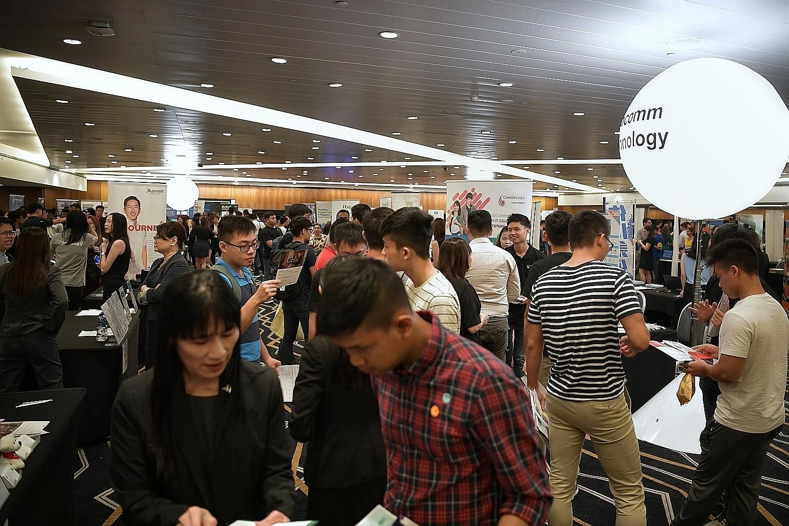 The Enhanced Career and Education Fair, held quarterly to help full-time national servicemen check out job and education options, is now divided into thematic zones for key industries, so that NSFs can find out more about the job opportunities in and