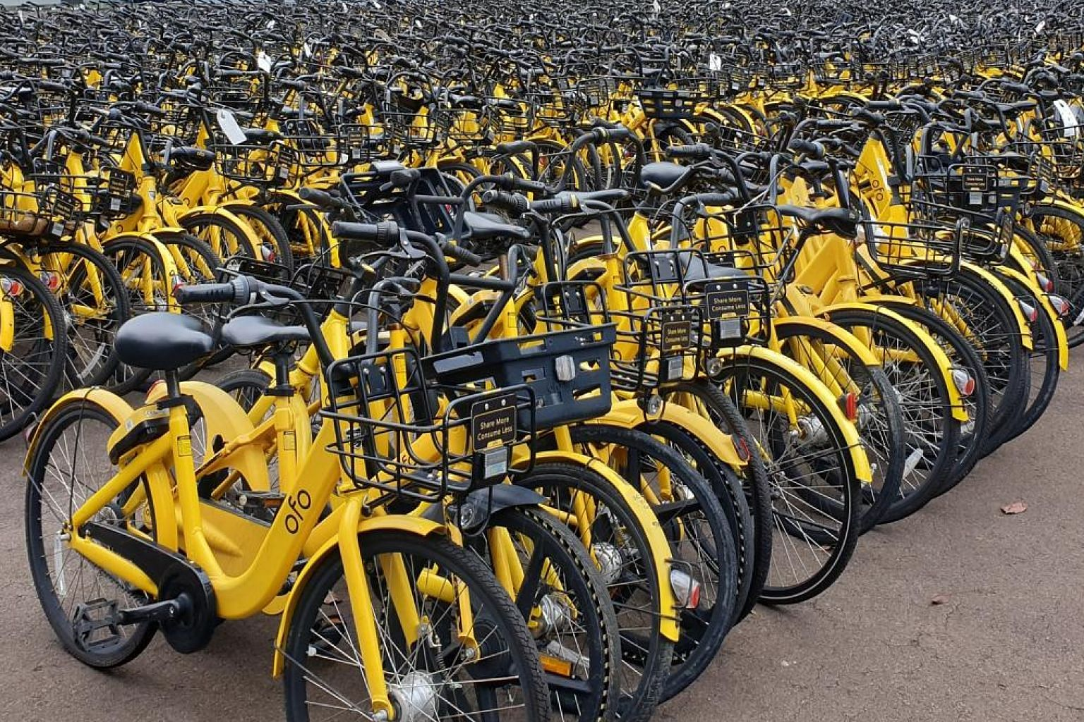 The $29,995 collected by the Land Transport Authority from the sale of 5,999 bicycles will be donated to charity. LTA had found these bikes indiscriminately parked or abandoned around Singapore.