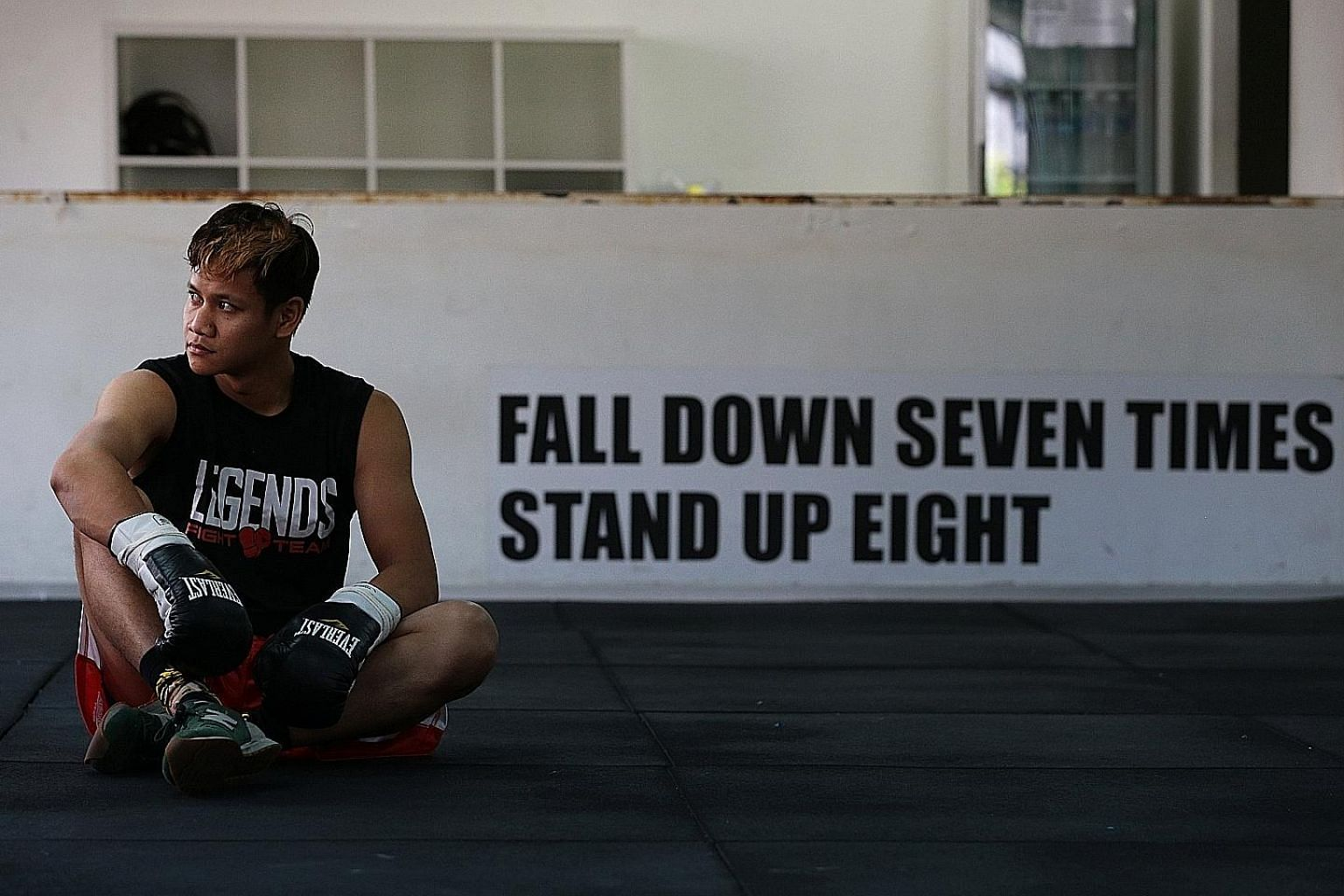 Muhamad Ridhwan's professional boxing career has been left in limbo following a fallout with his management company but he refuses to stop fighting.