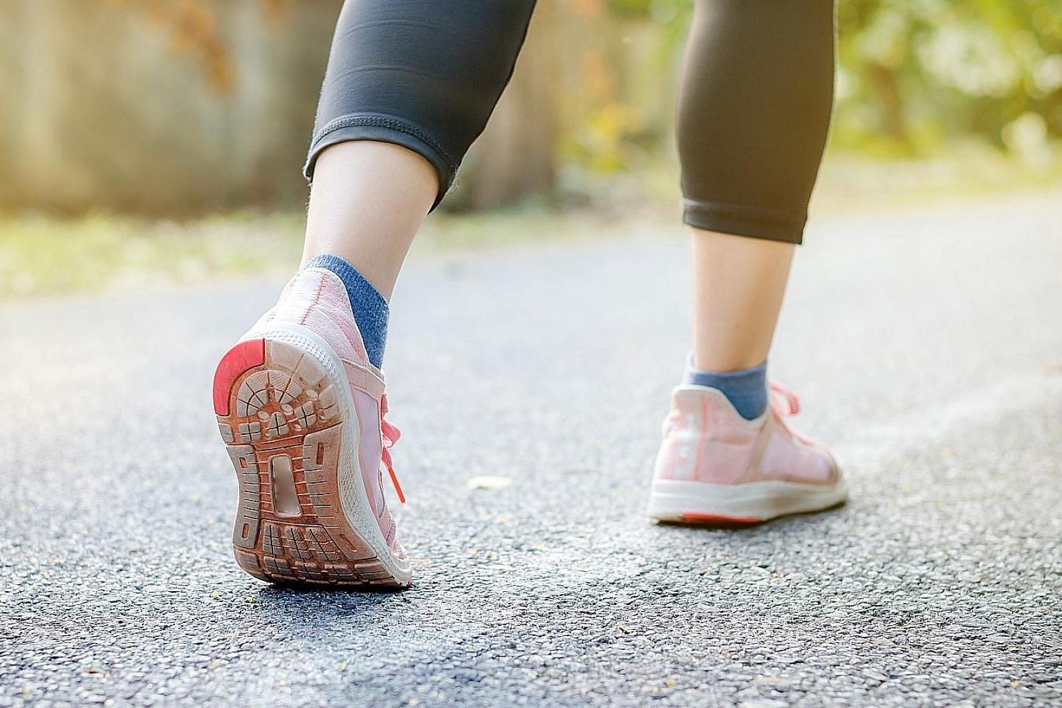 Walking can be a good form of exercise for those who are not so fit and is less intensive than running.