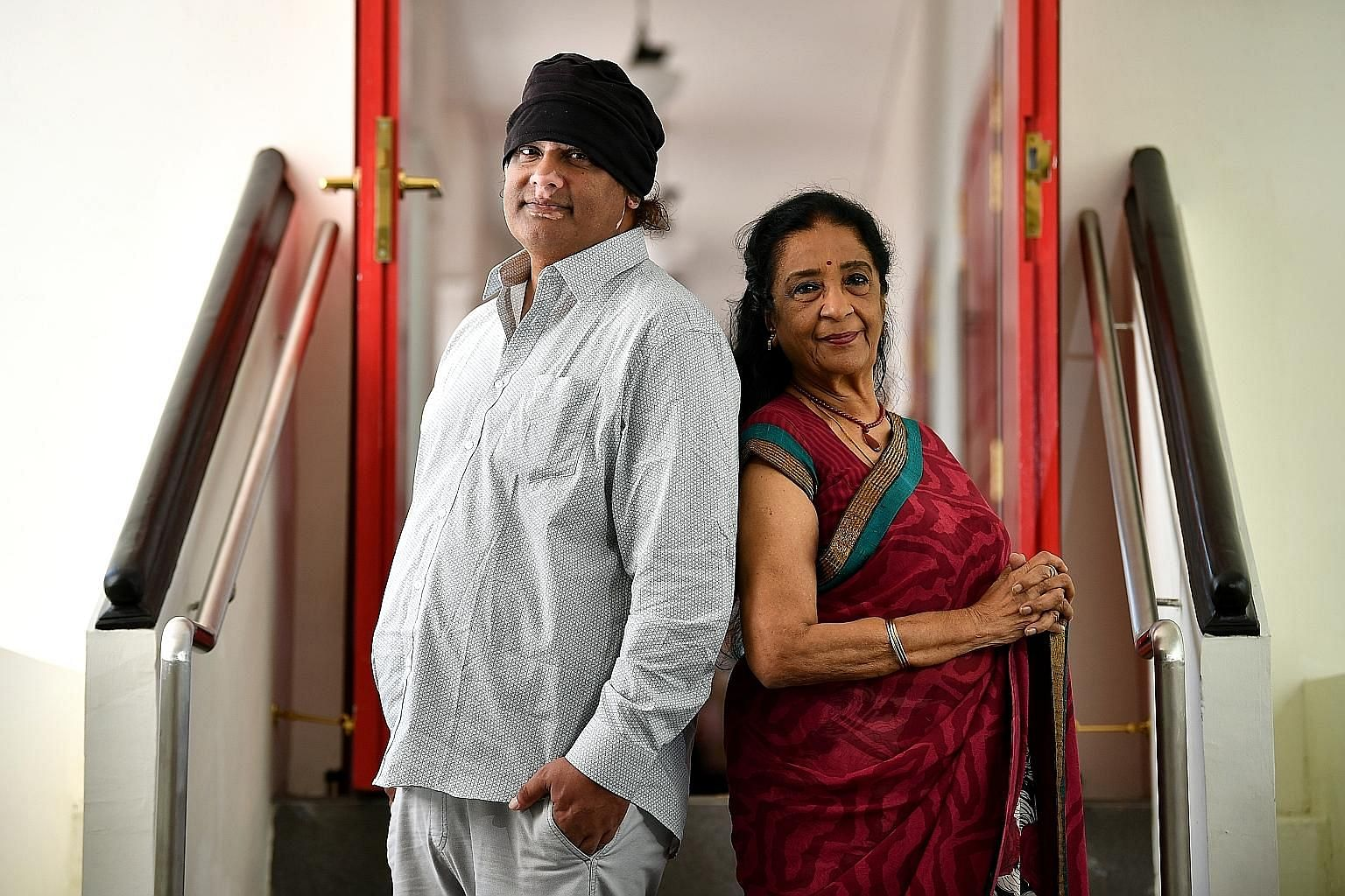 "Film-maker K. Rajagopal collaborated with ""dancing doctor"" Uma Rajan (both left) on his short experimental film, A Dream I Did Not Dream, specially commissioned for this year's Silver Arts festival."