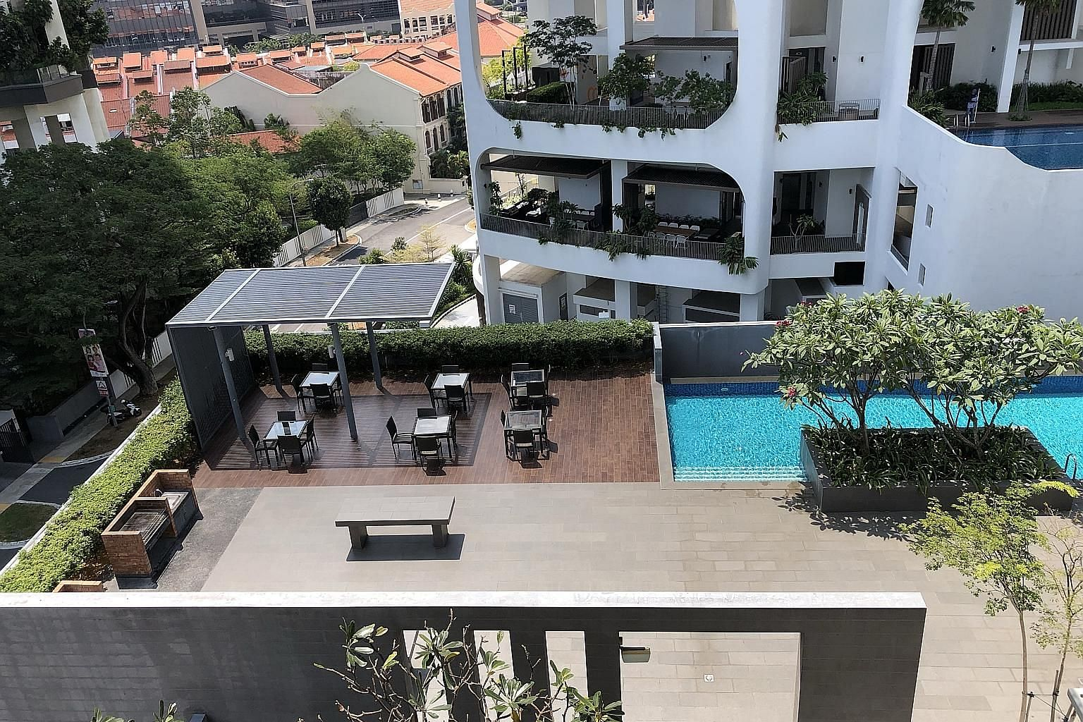 Mr Nasiari Sunee, a grandfather of nine, was at the condominium for a relative's housewarming party on Sunday when the incident took place. He was taken to Singapore General Hospital, where he died on Monday morning. The barbecue pit area on level fi