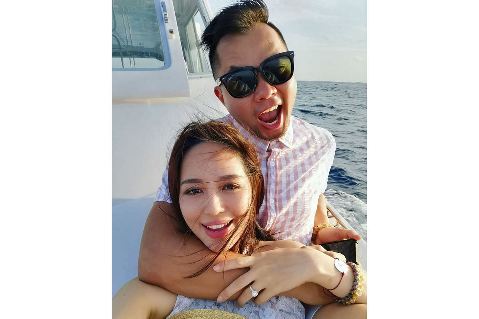 Daniel Ong proposed to his artist girlfriend Fay Tan while on holiday in the Maldives.
