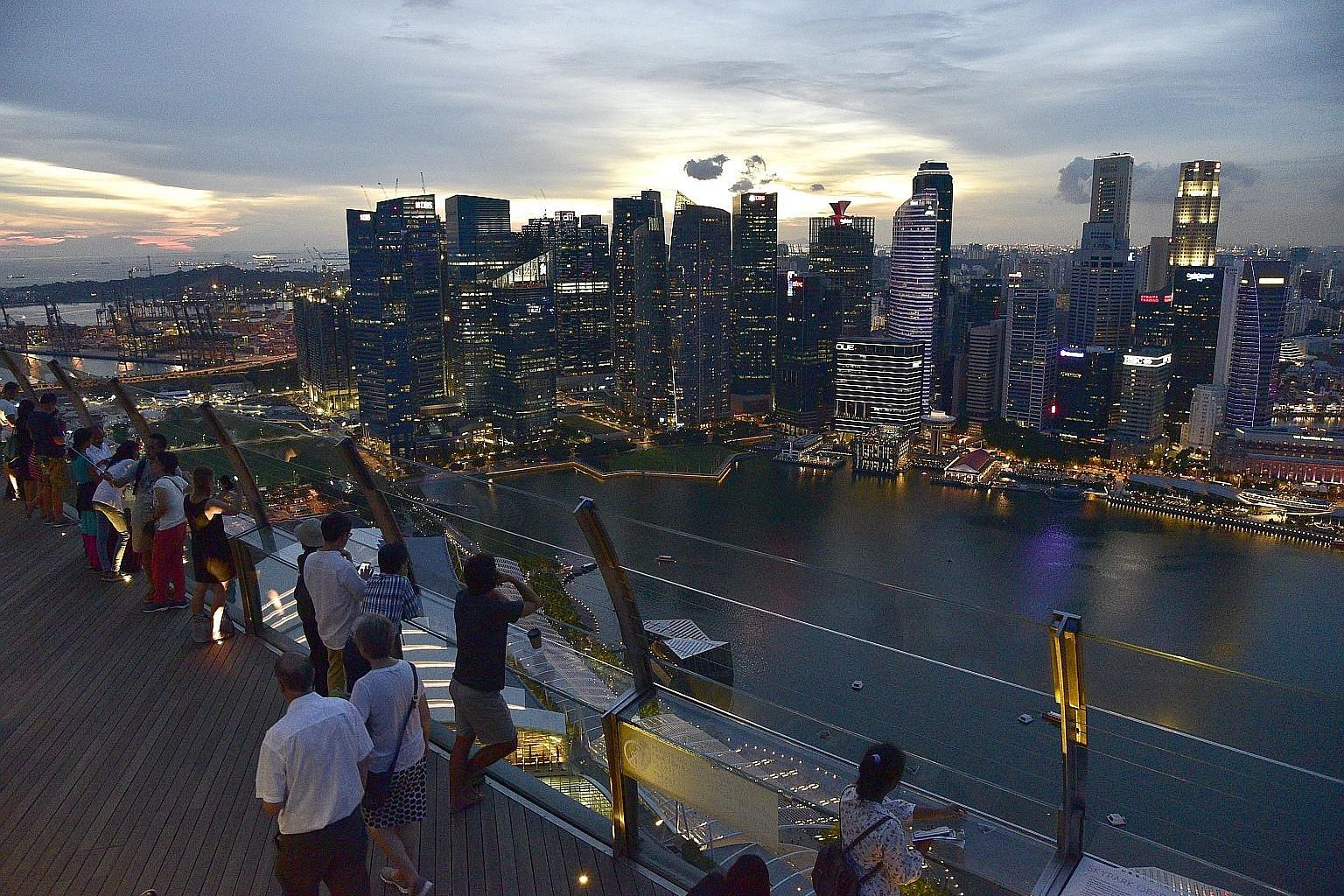 Visitor arrivals in Singapore rose 1.4 per cent year on year in the first six months of this year, down from a 7.7 per cent jump in the same period last year. Maybank Kim Eng Securities' Mr Chua Su Tye remains positive on the outlook as accommodation