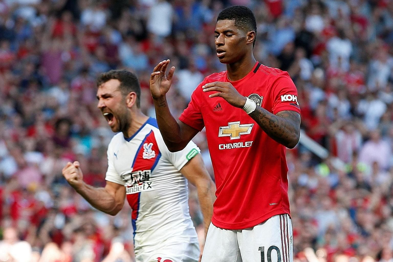Marcus Rashford is the second Manchester United player after Paul Pogba to miss from the penalty spot in successive matches.