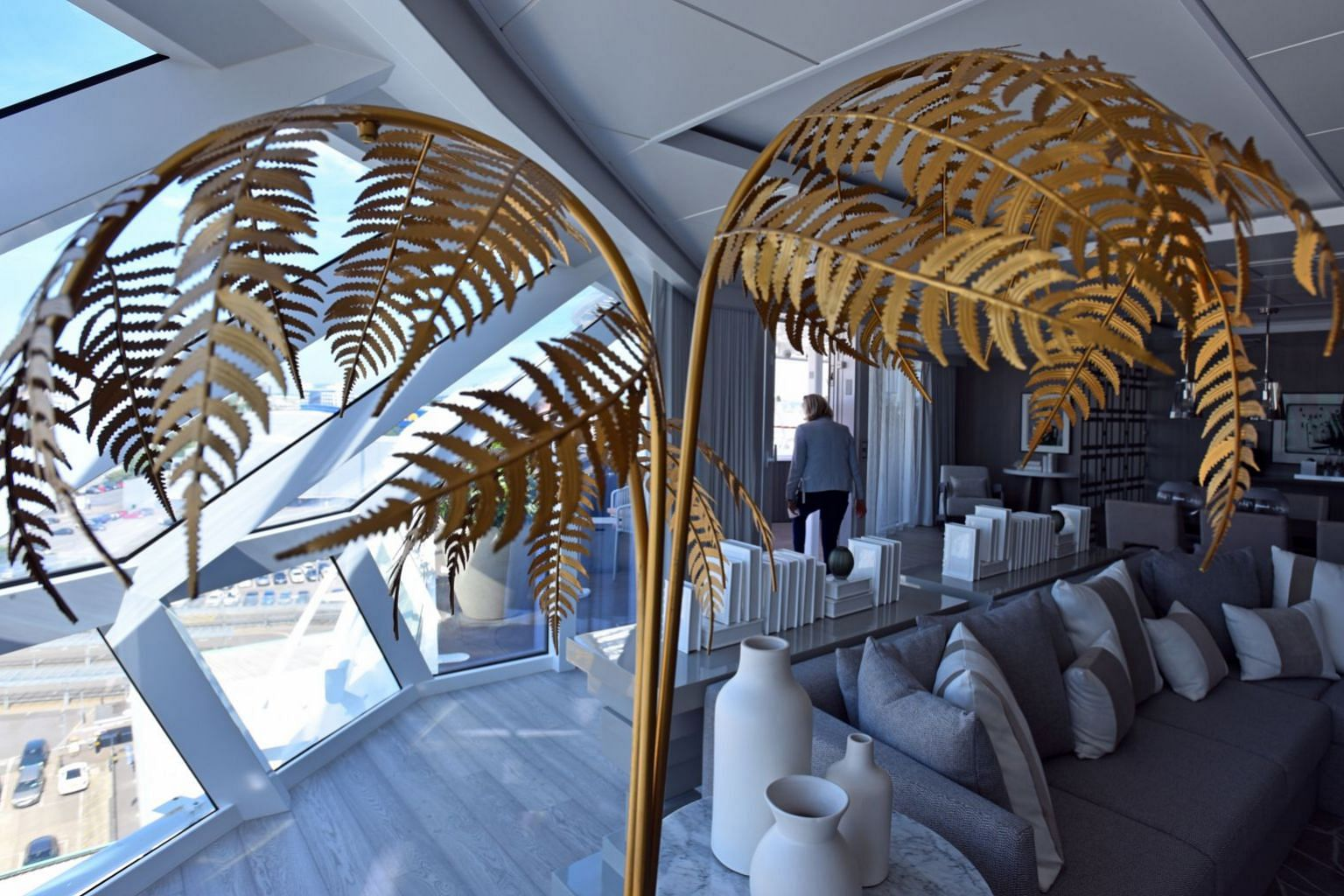 Adding a touch of luxury, many of the tastefully furnished rooms on the Celebrity Edge were designed by famed British designer Kelly Hoppen.