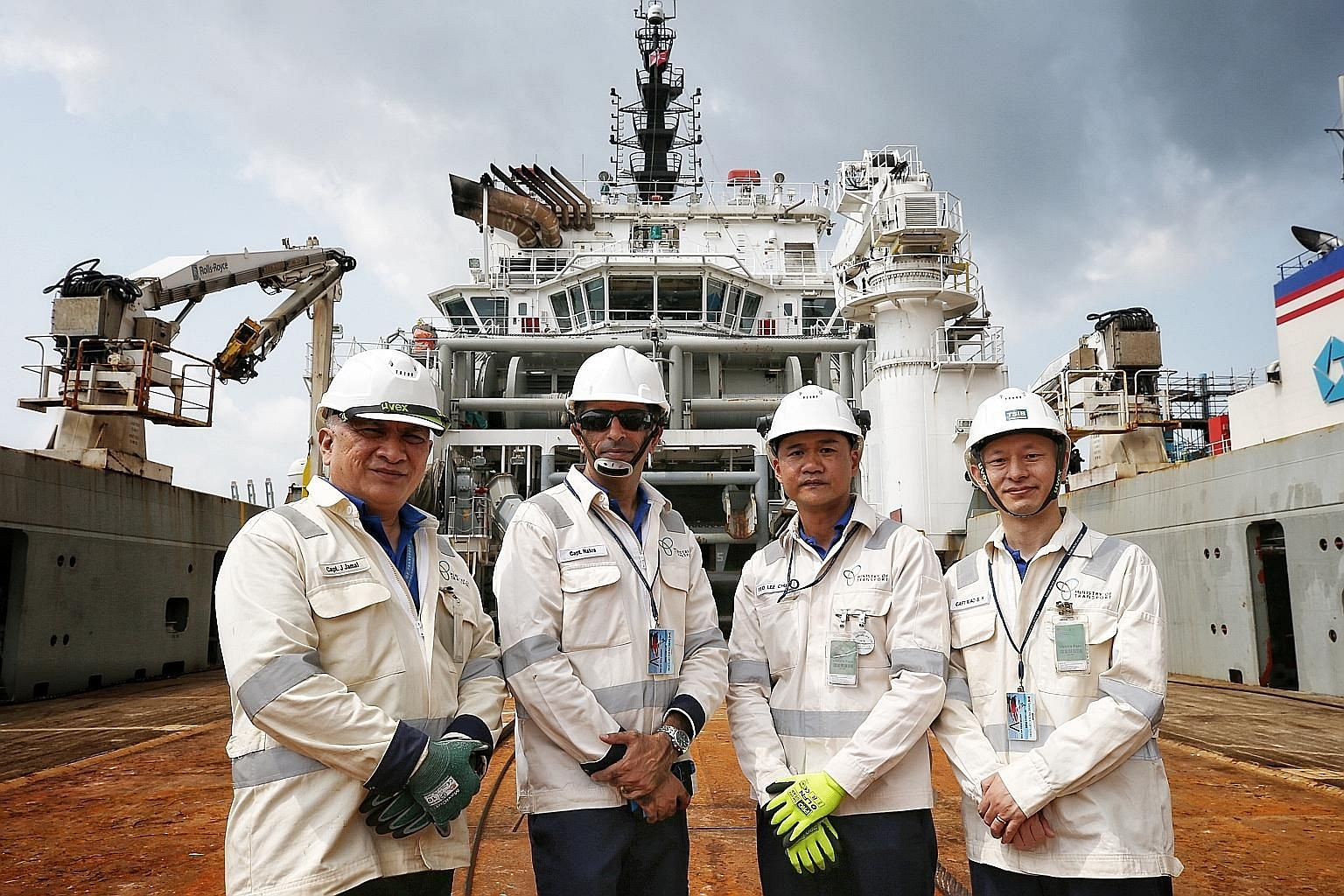 Marine safety investigators (from far left) Jamaludin Jaffar, Kunal Nakra, Yeo Lee Chuan and Xiao Shouhai look into marine incidents with serious casualties that involve Singapore-registered ships and those that involve foreign-registered vessels in Singa