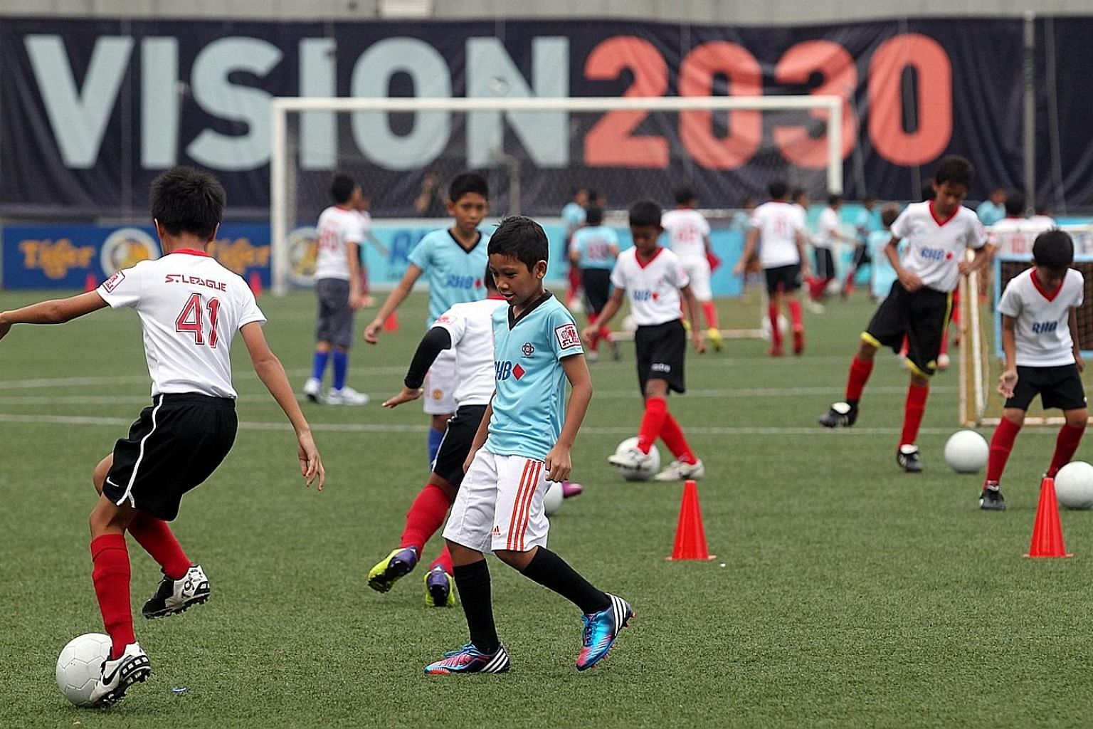 FAS vice-president Edwin Tong said that the target group for the 2034 World Cup would be those currently aged between eight and 15. There are an estimated 6,800 of such youngsters playing in FAS' Centres of Excellence (COE), Sport Singapore's develop