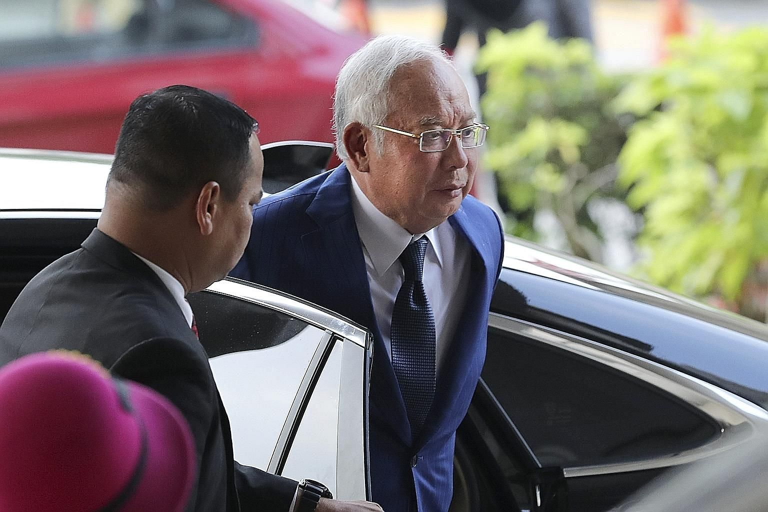 Former Malaysian prime minister Najib Razak arriving at the Kuala Lumpur High Court yesterday. In the second trial due to begin today, he faces 25 charges of abuse of power for receiving illegal transfers.