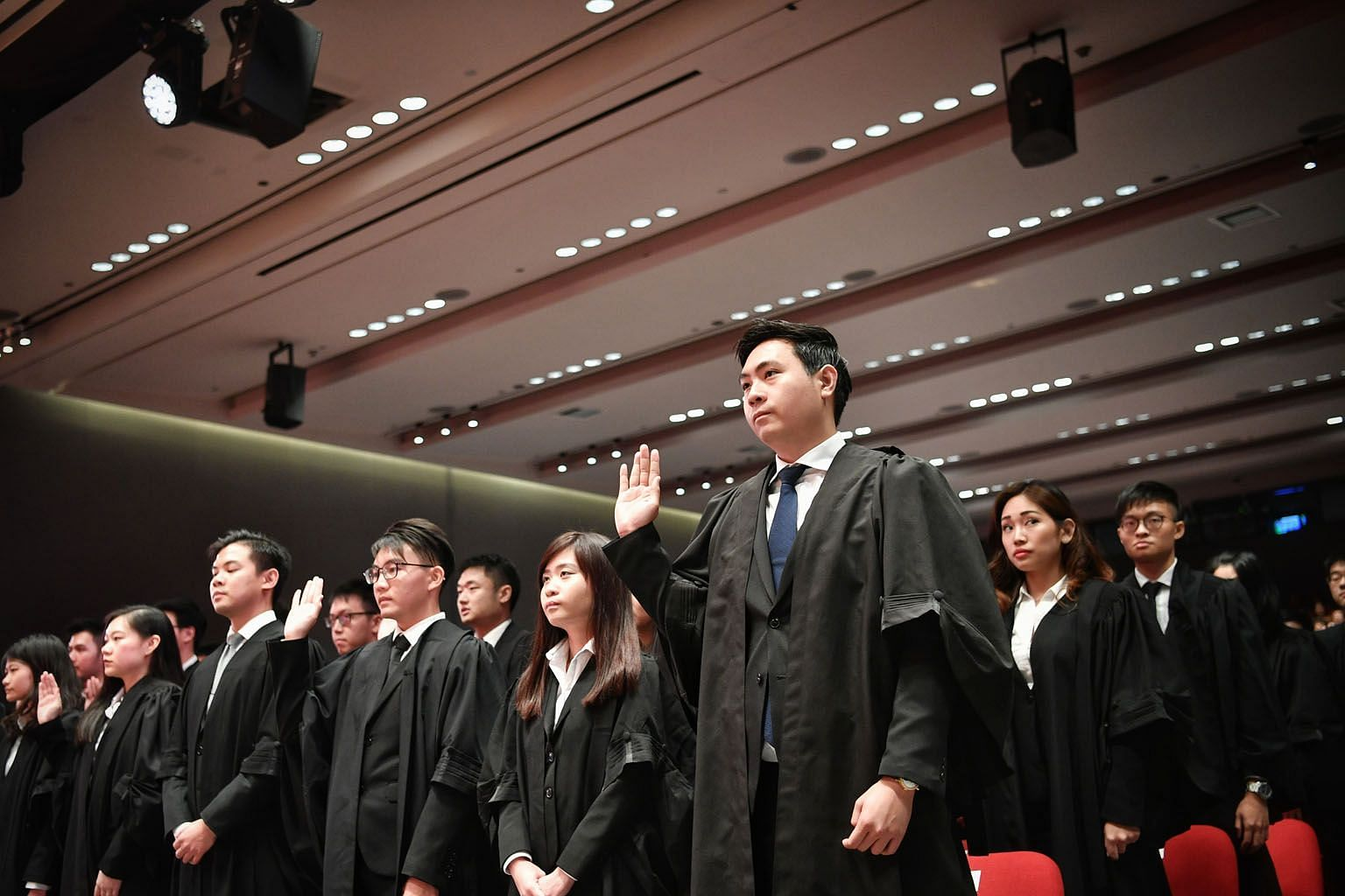 A total of 529 lawyers are being called to the Bar over three Mass Call sessions at the Supreme Court auditorium yesterday and today.