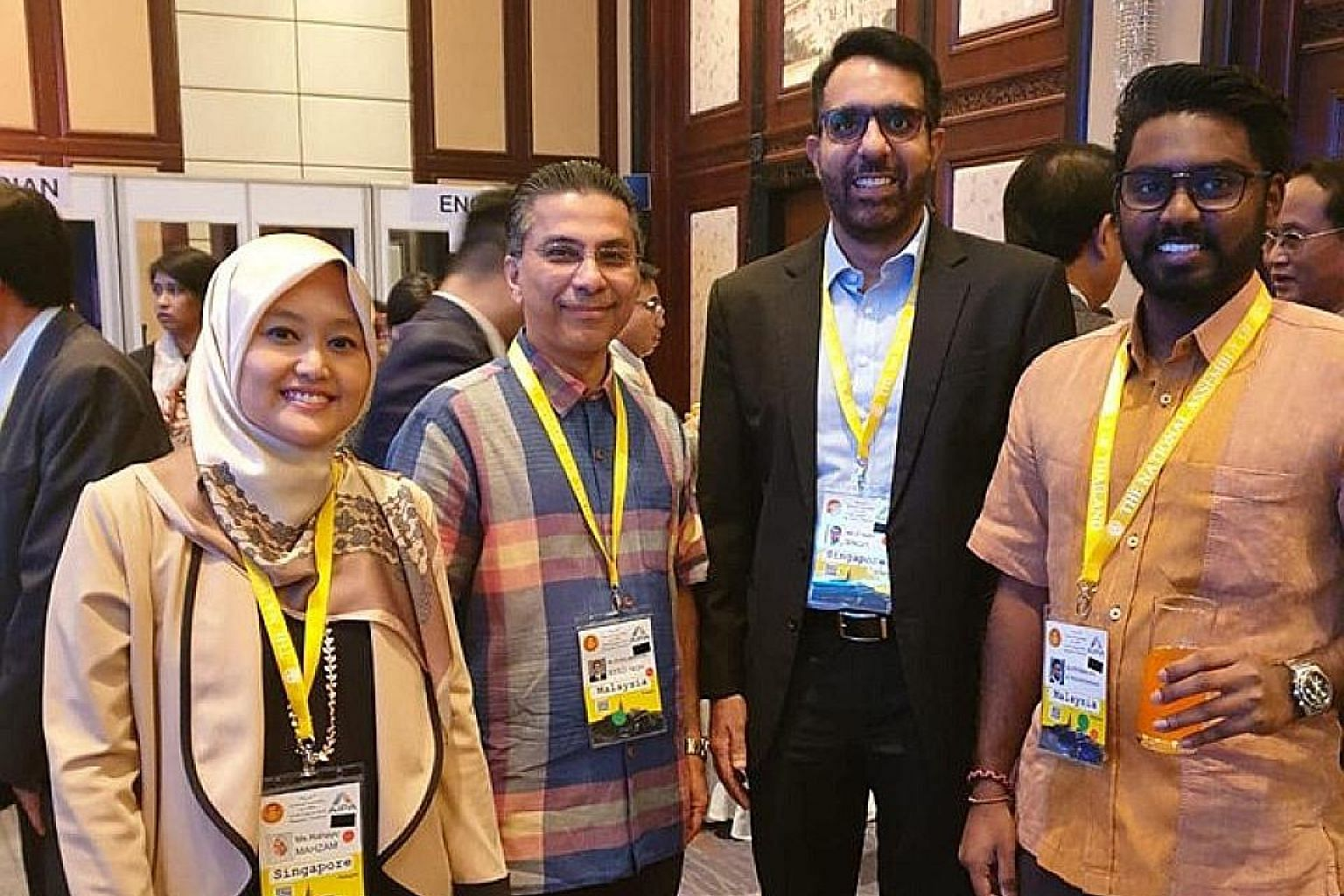 People's Action Party MP Rahayu Mahzam and her Workers' Party counterpart Pritam Singh (third from left) are part of the Singapore delegation at the Asean Inter-Parliamentary Assembly (Aipa) in Bangkok this week. They are among 12 MPs who are attendi