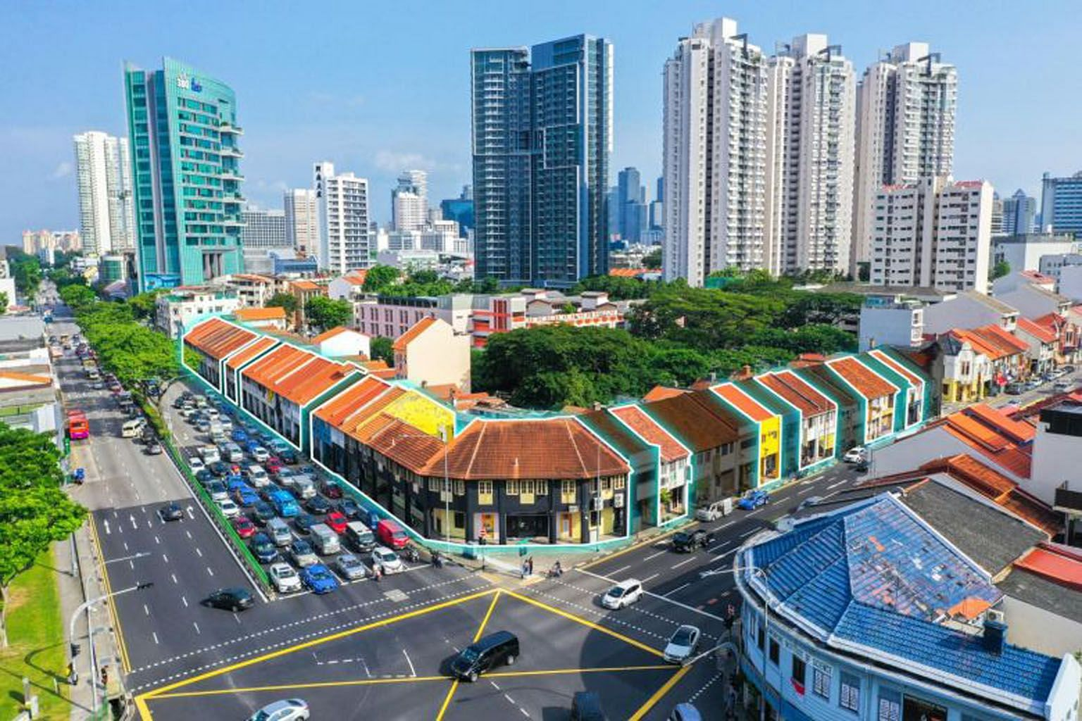 The group of freehold shophouses - called The Lavender Collection - is up for sale by public tender at a guide price of $138 million. The shophouses occupy about 49,200 sq ft, with a gross floor area of about 80,000 sq ft.