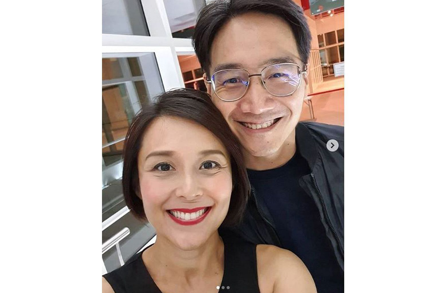 Priscelia Chan has fully recovered from her skin condition and is looking forward to celebrating her 12th wedding anniversary with husband Alan Tern (both left).
