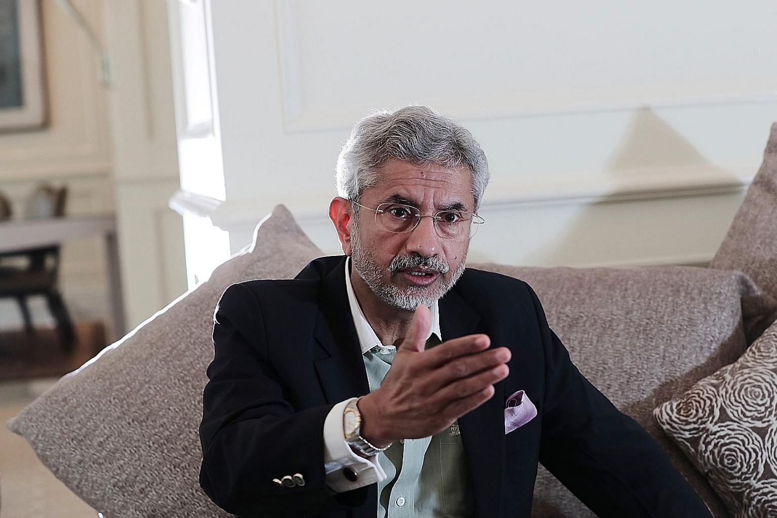 Indian Foreign Minister Subrahmanyam Jaishankar is on a five-day visit to Singapore, where he will review bilateral issues with Foreign Minister Vivian Balakrishnan and meet other leaders. ST PHOTO: KELVIN CHNG