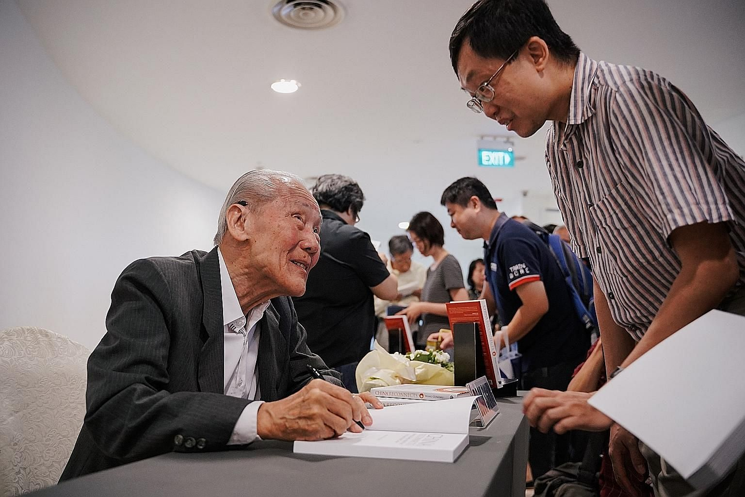 Historian Wang Gungwu at the launch of his book, China Reconnects: Joining A Deep-rooted Past To A New World Order, yesterday. Ambassador-at-Large Chan Heng Chee spoke at the event. ST PHOTO: ONG WEE KIAT