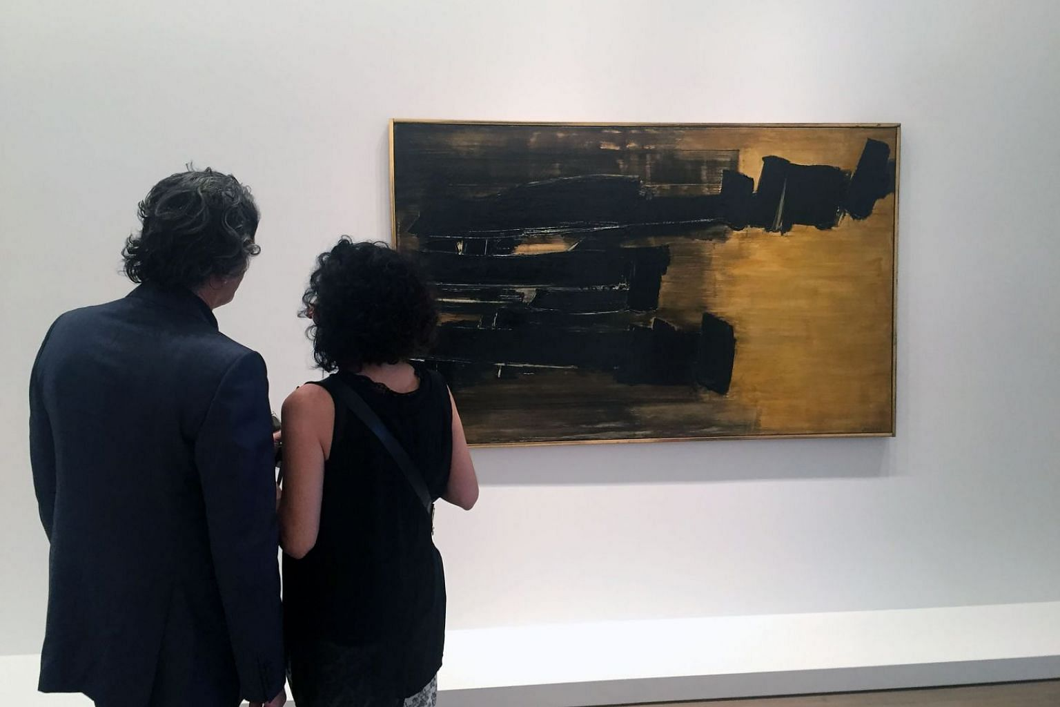 The exhibition, Pierre Soulages: A Century, by French painter Pierre Soulages at the Levy Gorvy gallery in New York.