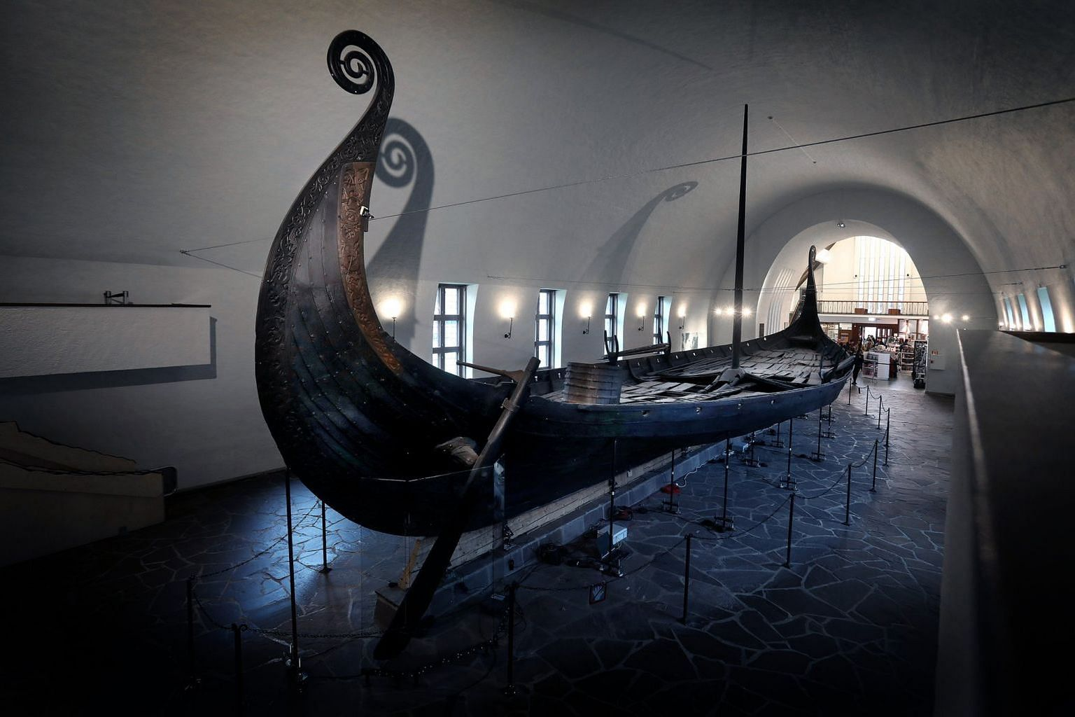 The Oseberg at the Viking Ship Museum.