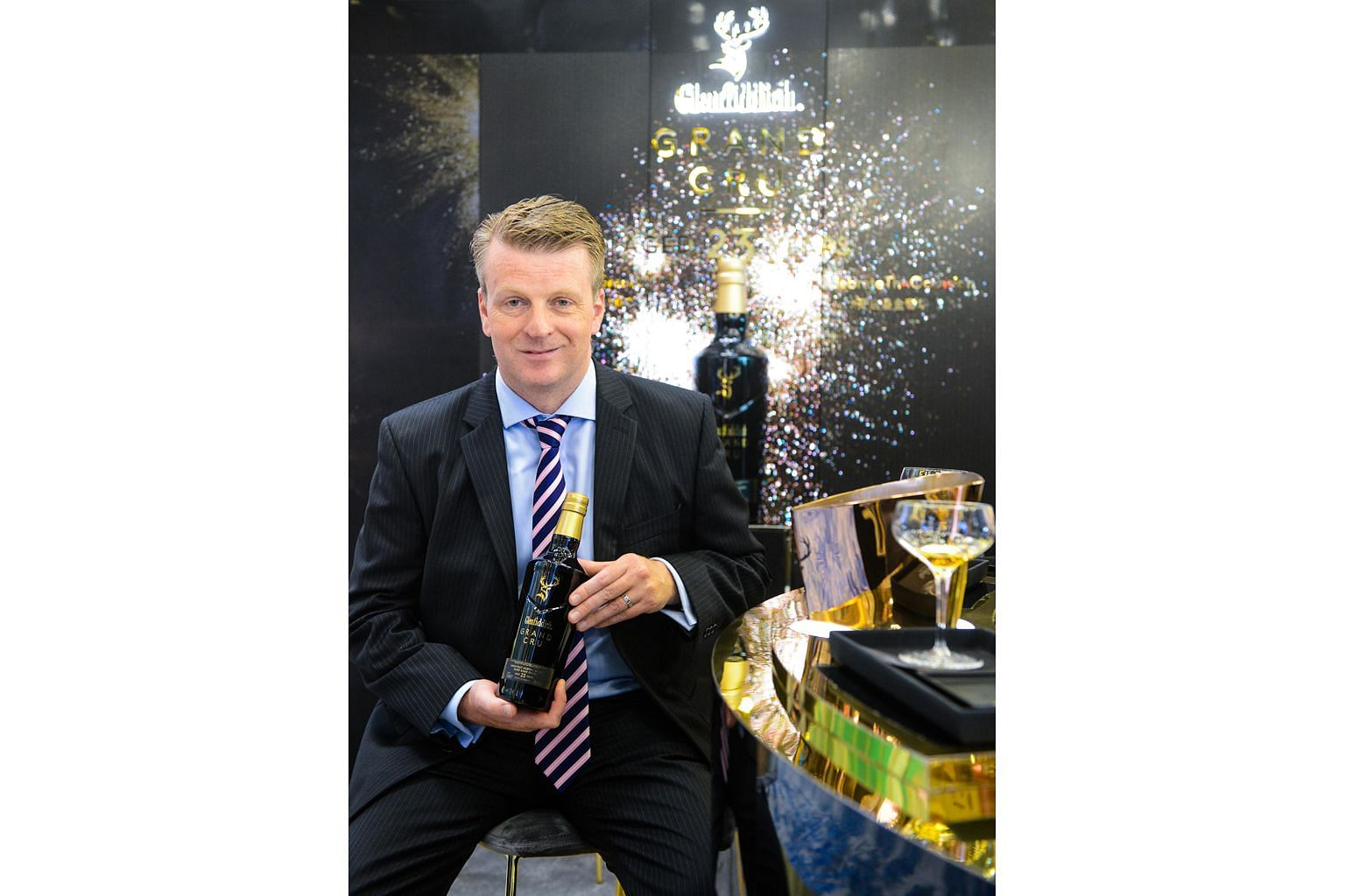 Glenfiddich's malt master Brian Kinsman was part of the team that created Grand Cru, which brings together premium single malt scotch whisky and champagne.