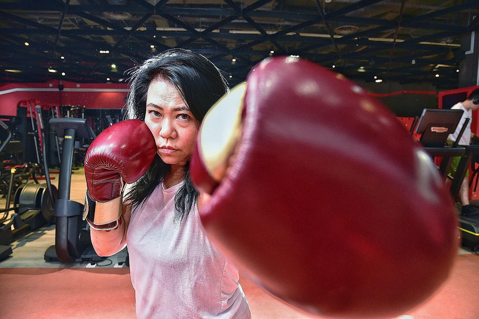 Boxing and muay thai practitioner Amy Jemaat.
