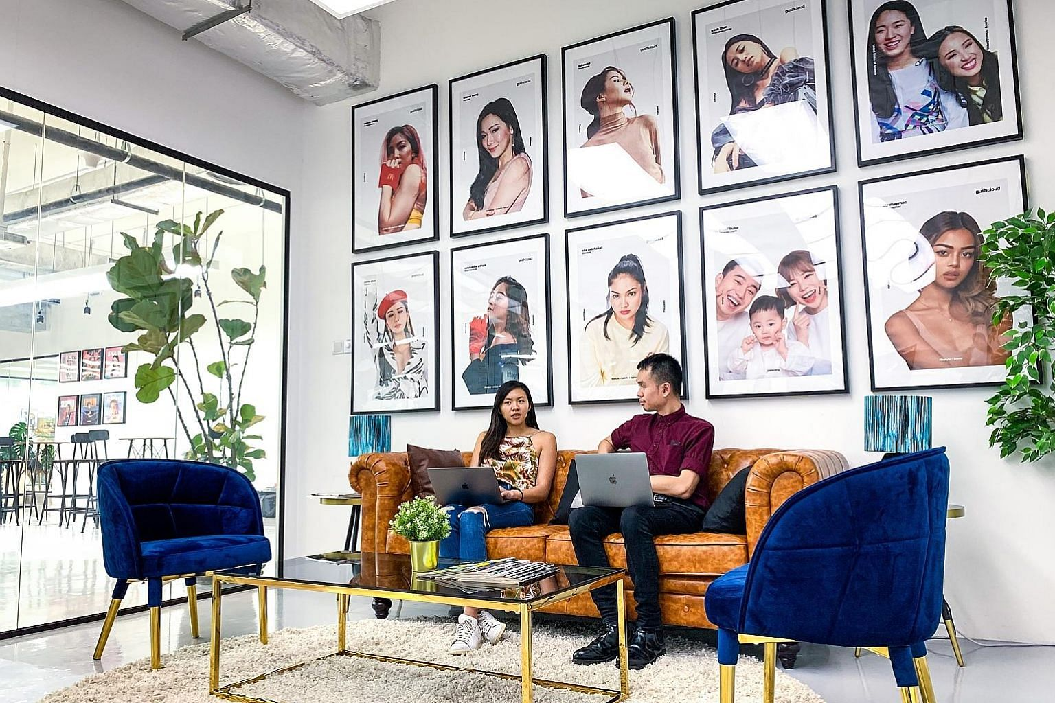 Mr Russell Simmons (above), the newly appointed president of Gushcloud, is also co-founder of Def Jam, a major American music label. Gushcloud's headquarters (right) at the Pixel Building in Buona Vista. An influencer marketing company, it operates i