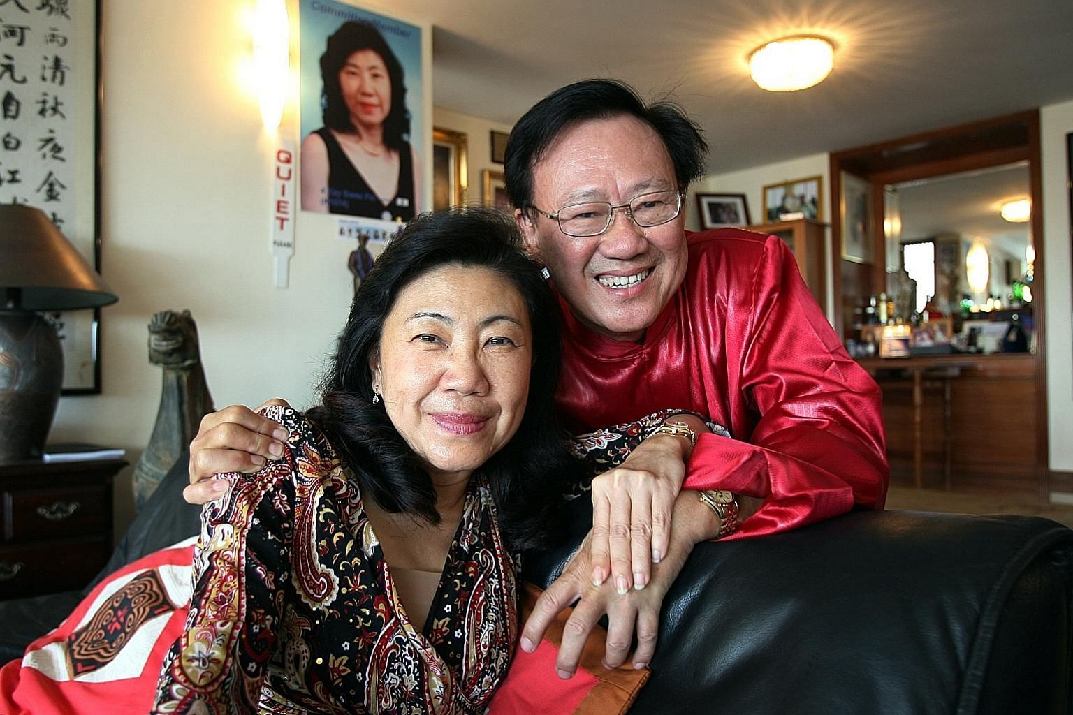 SA Tours' former boss Ng Kong Yeam and his mistress Kay Swee Pin in 2008. He meant to benefit her in his transfer of shares, the court has found.