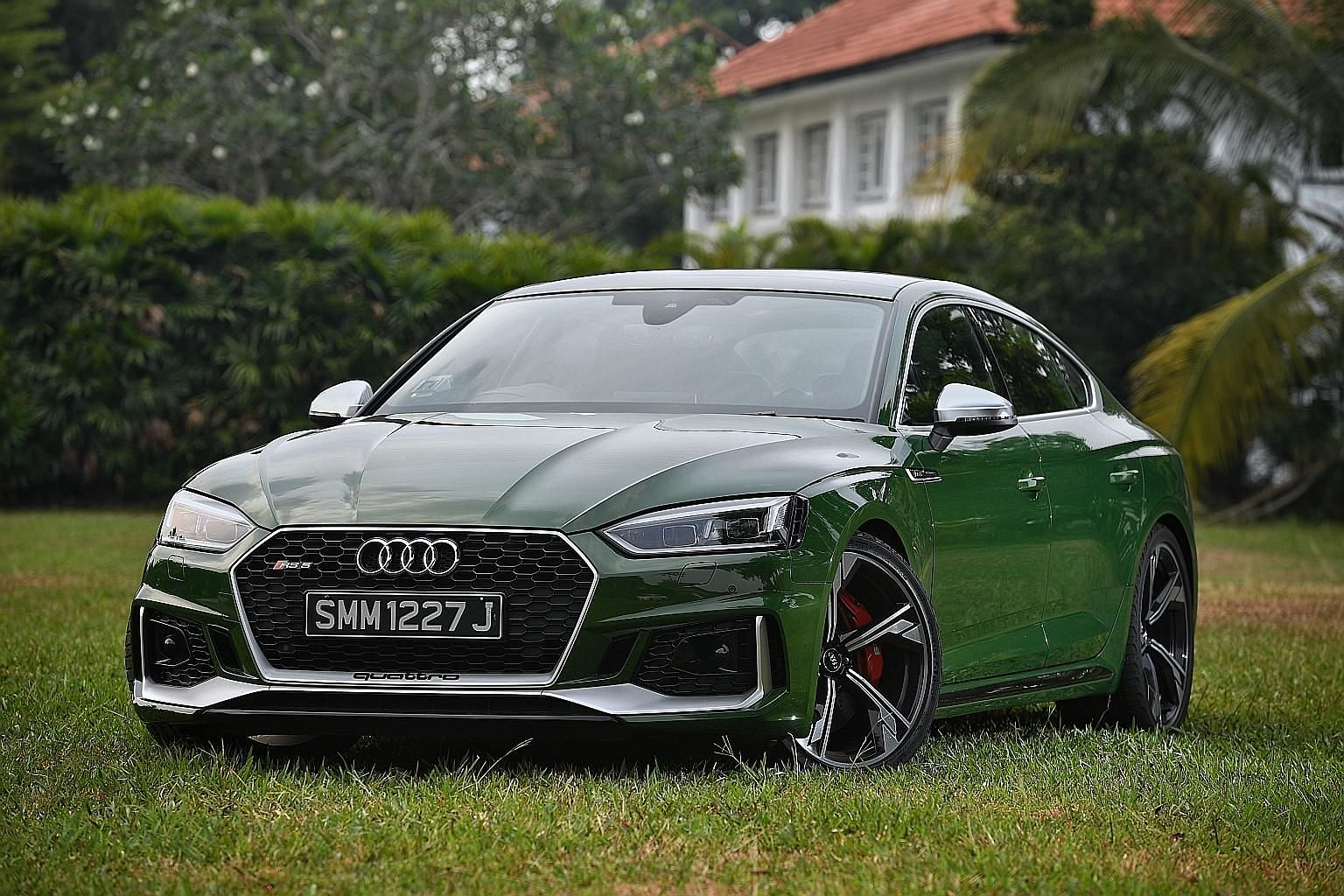 The Audi RS5 Sportback is a lovely drive, with precise and effortless steering and a creamy, quick and well-spaced gearbox.